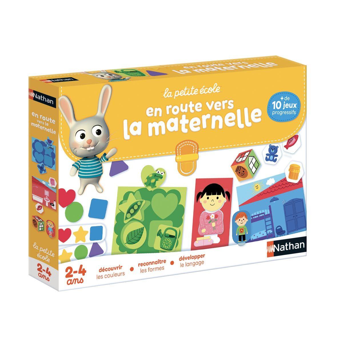 Coffret De Jeux En Route Vers La Maternelle Nathan | Jeux destiné Jeu Educatif 4 Ans