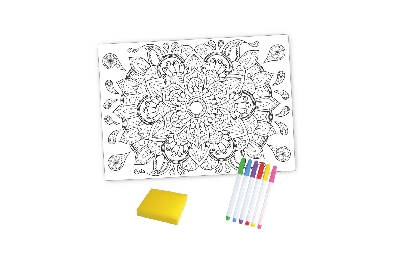 Coffret Mandala - Coloriage Magique Effaçable - Support Pré encequiconcerne Coloriage Chiffres 1 À 10