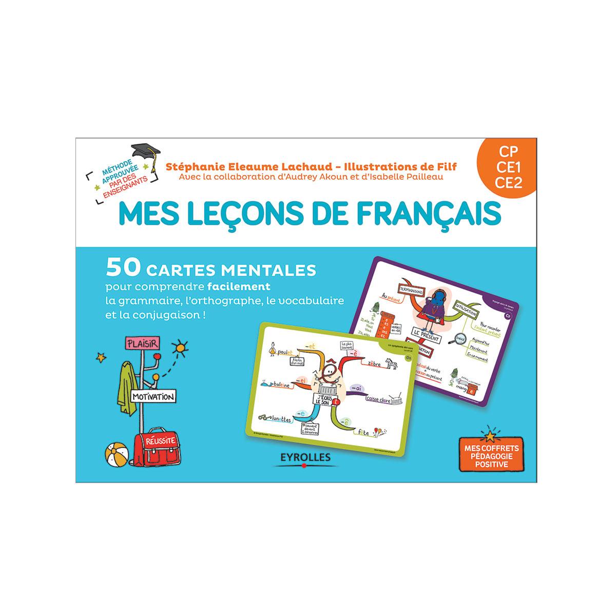 Coffret Mes Leçons De Français Cartes Mentales Cp,ce1,ce2 dedans Jeux Educatif Ce1