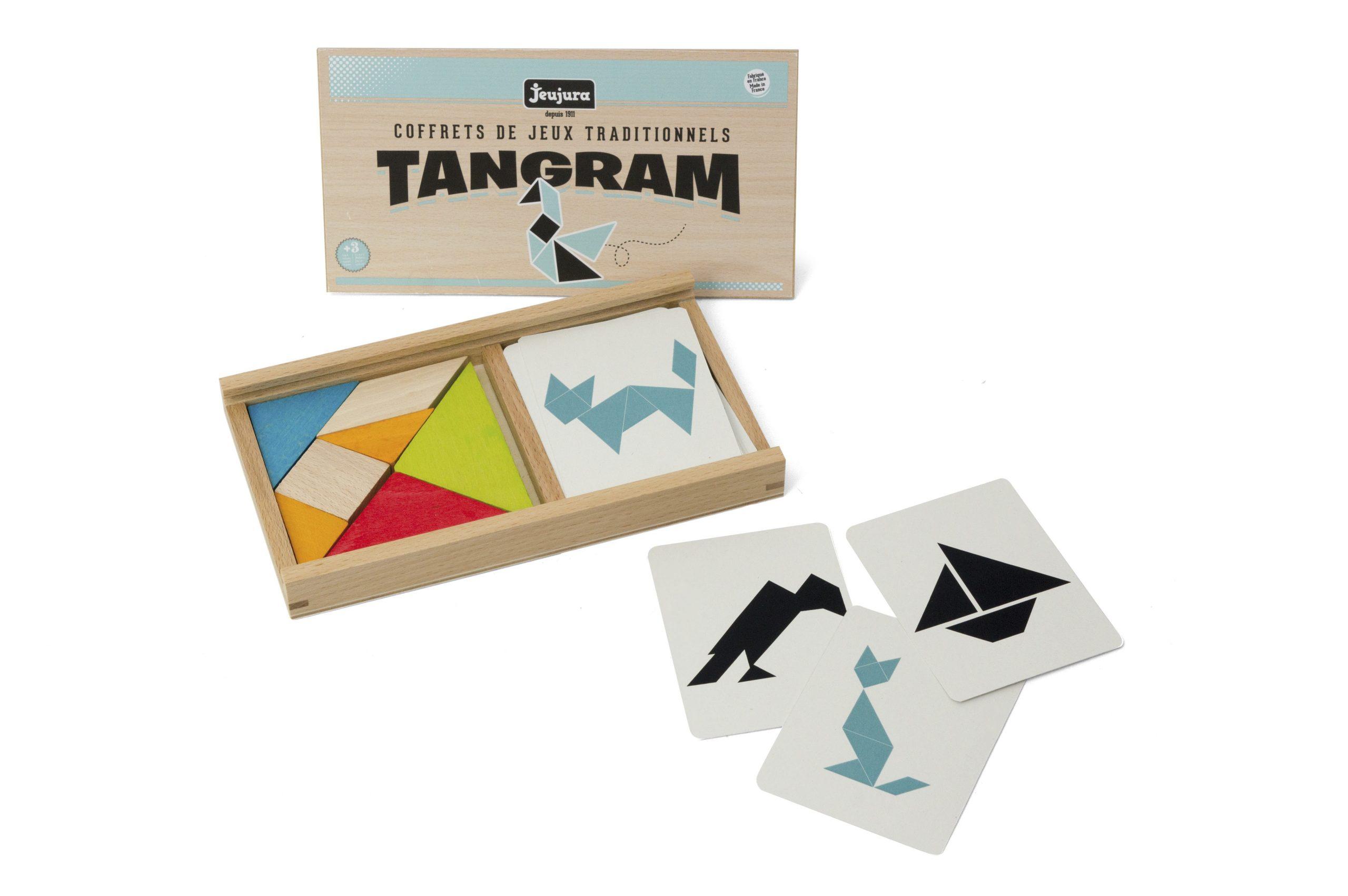 Coffret Tangram En Bois serapportantà Tangram Modèles Et Solutions