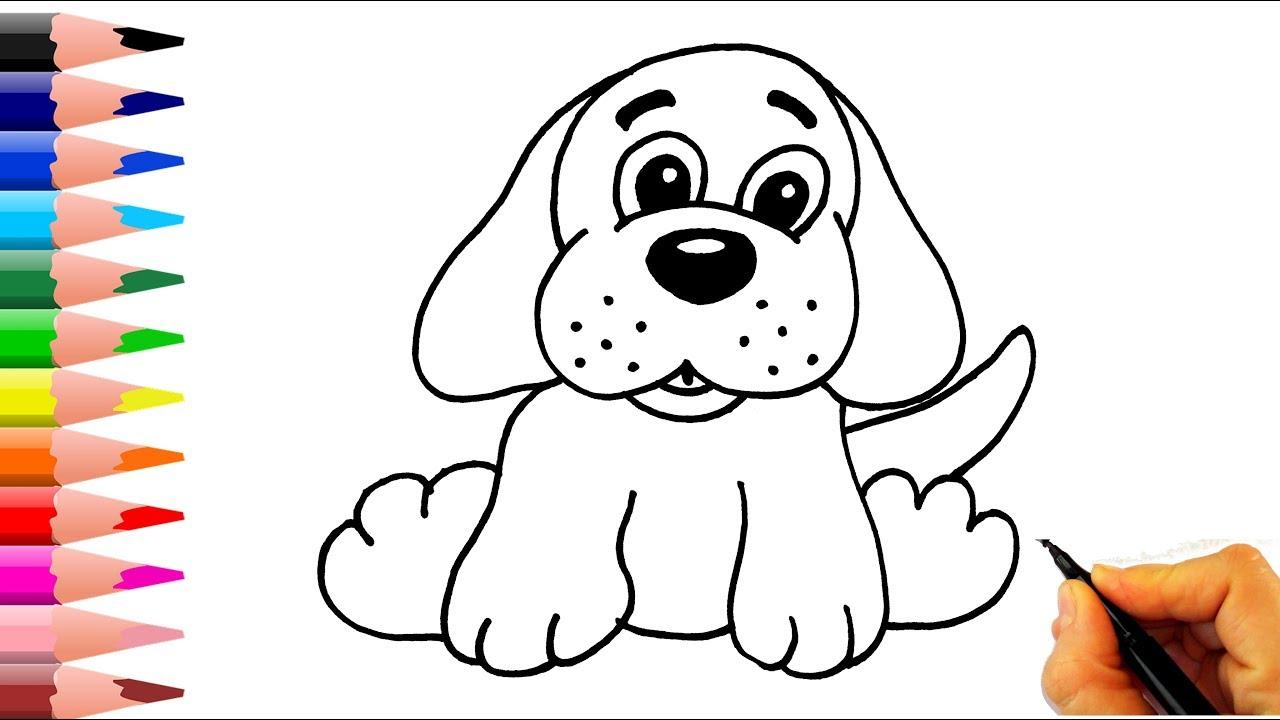Çok Kolay!! Köpek Nasil Çizilir? - How To Draw A Dog Easy pour Hello Kitty À Dessiner