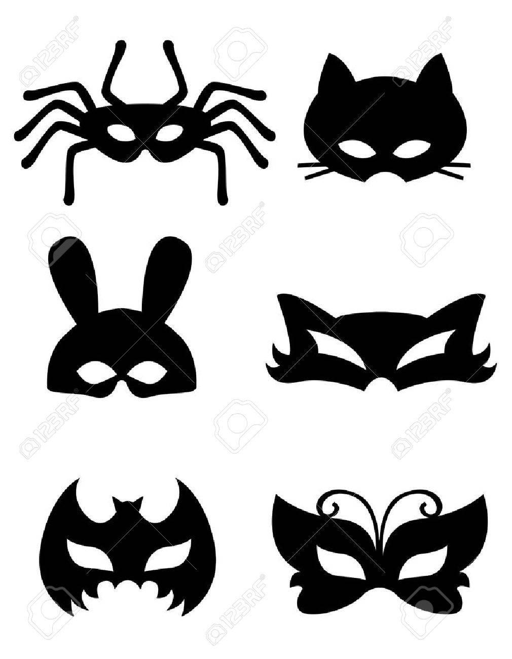 Collection De Masques D'animaux Avec Des Visages D'animaux. Prêt À Imprimer  Et À L'usure destiné Masque À Imprimer Animaux
