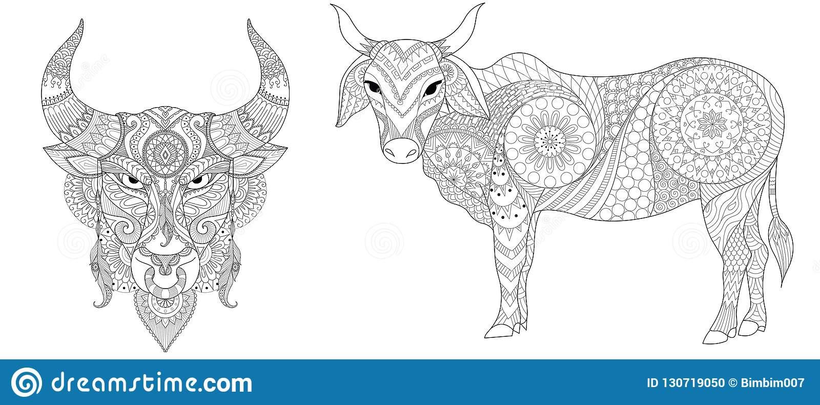 Collection De Vache Et De Taureau Pour Imprimer Et Page De destiné Livre De Coloriage À Imprimer