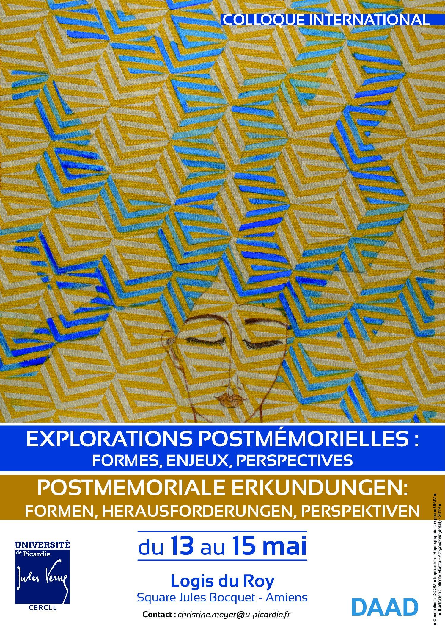 Colloque International_Explorations Postmémorielles En encequiconcerne Association De Formes