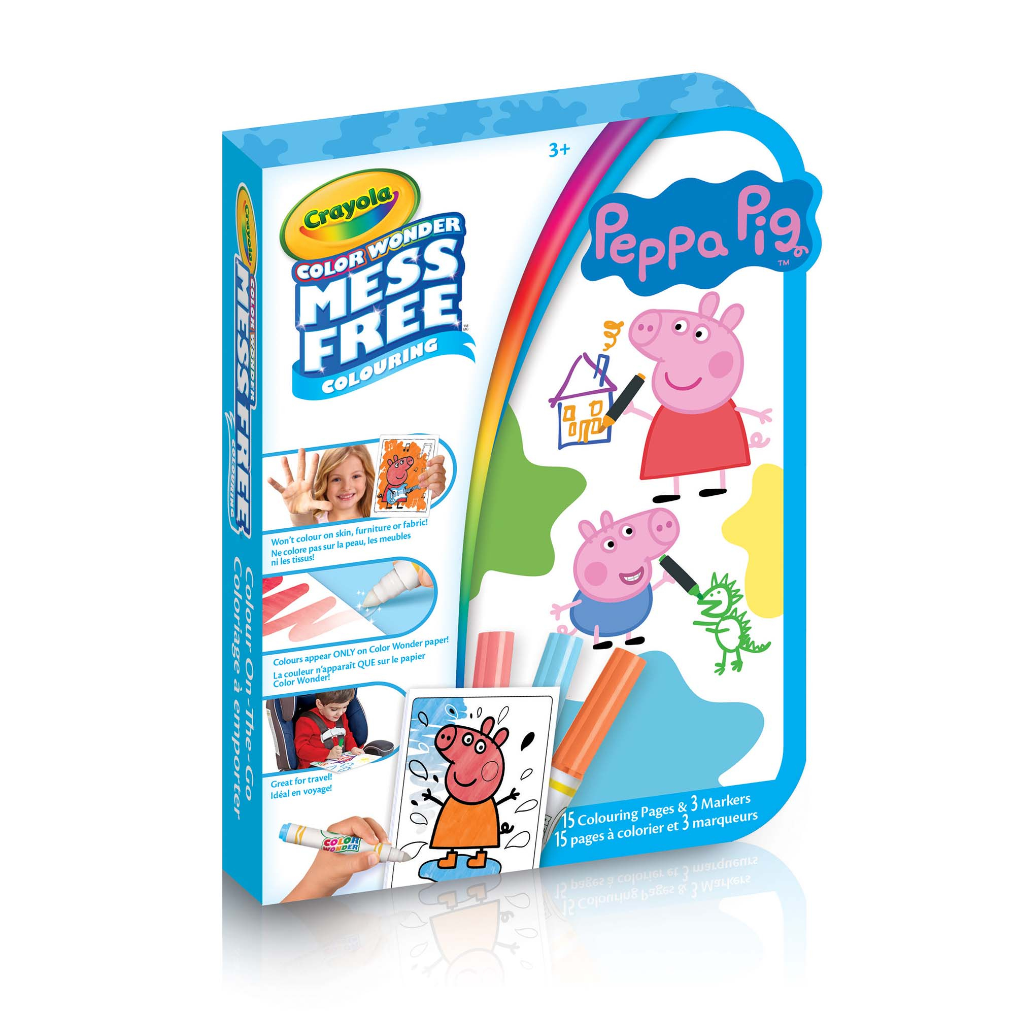 Color Wonder Mini Mess-Free Colour On-The-Go, Peppa Pig dedans Peppa Pig A Colorier