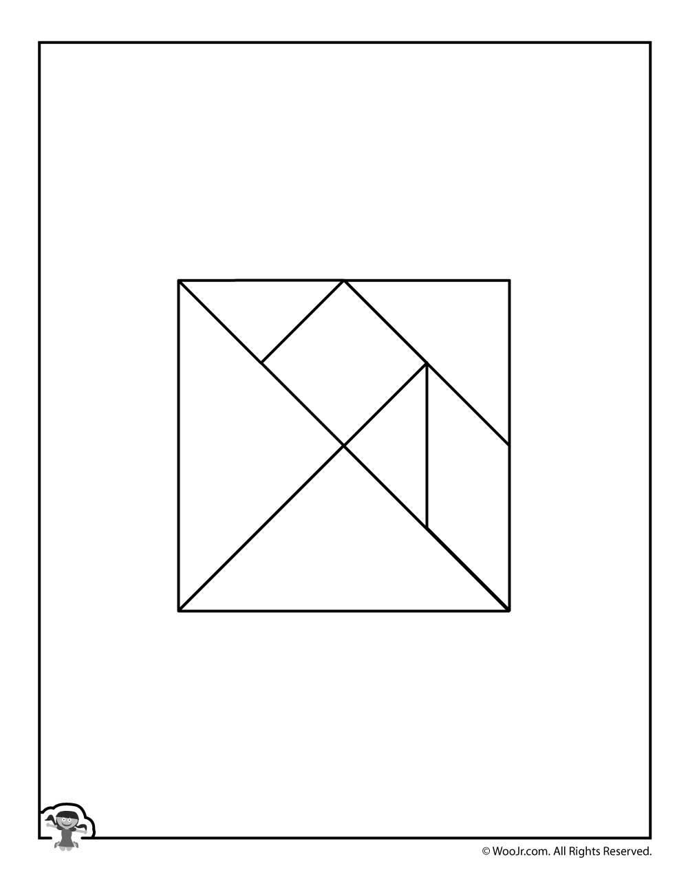 Color Your Own Printable Tangram Puzzle Pieces | Woo! Jr tout Pièces Tangram