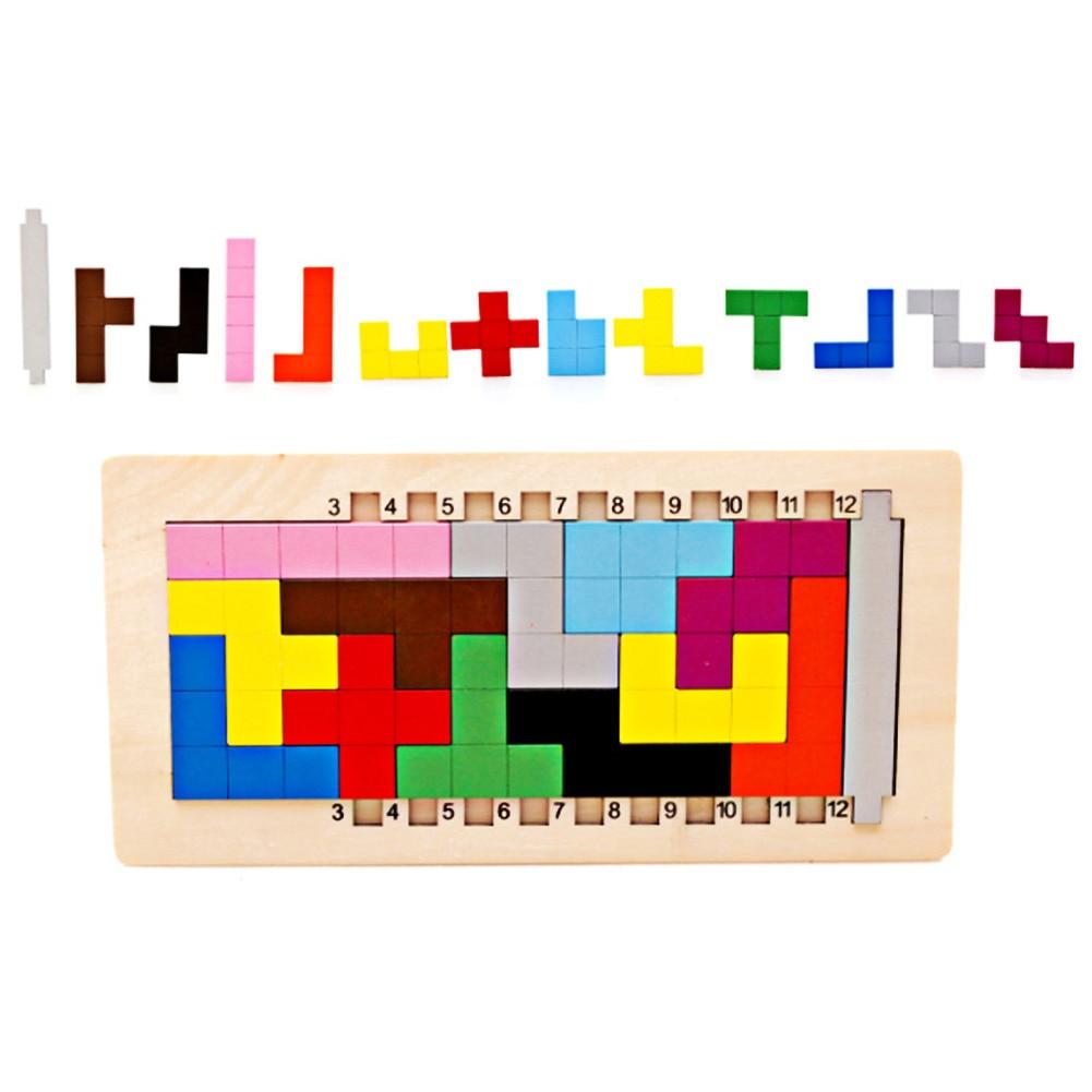 Coloré En Bois Tangram Tetris Jeu Cerveau Teaser Puzzle Jouets Bébé  Préscolaire Magination Début Éducatif Enfants Jouet Enfants Cadeau à Tangram Enfant