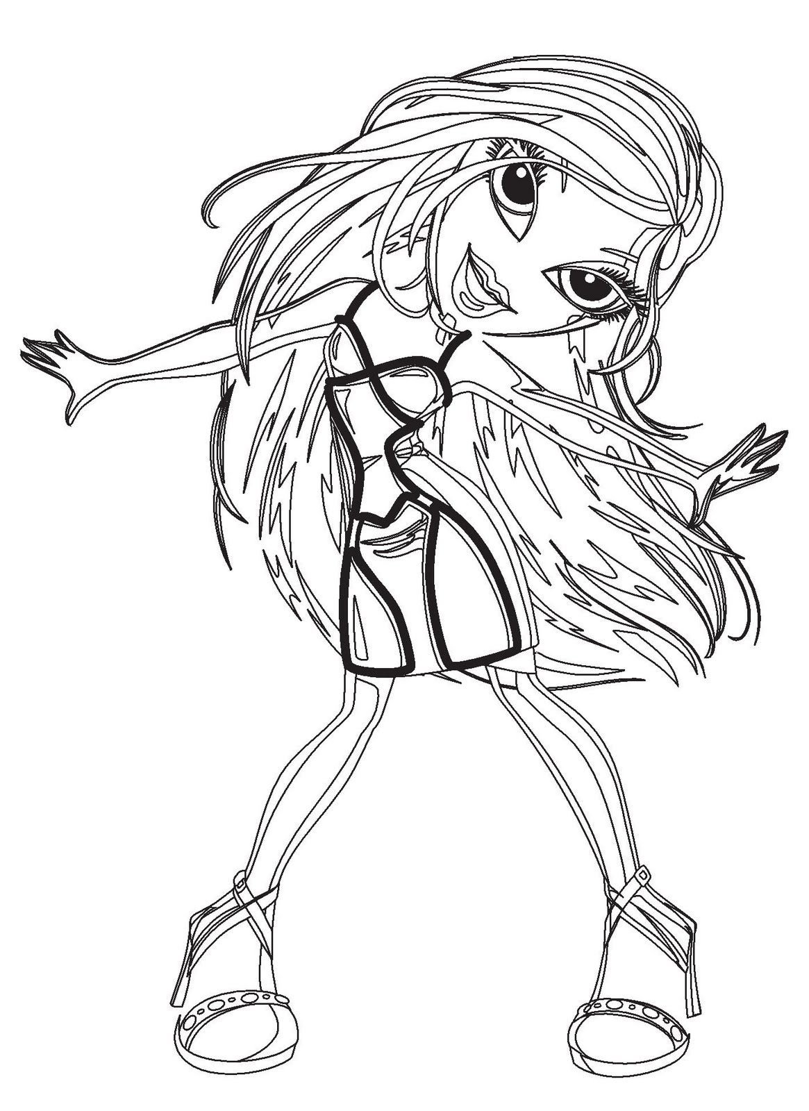 Colorful Cartoon Coloring Pages: Funky And Fun Bratz Printables avec Bratz Dessin