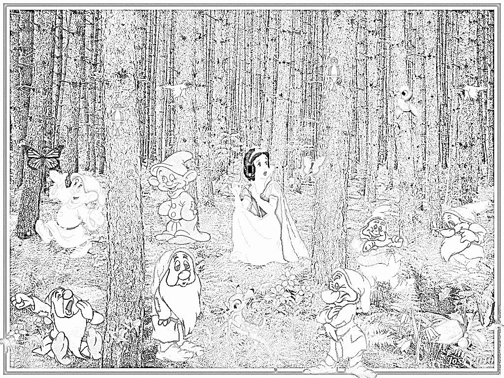Coloriage 102 Blanche Neige À Imprimer Pour Les Enfants concernant Coloriage De Blanche Neige À Imprimer