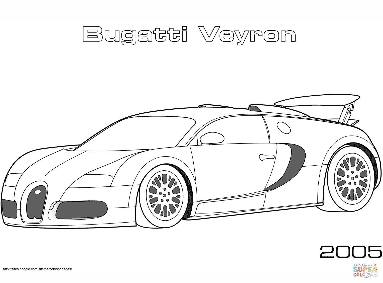 Coloriage - 2005 Bugatti Veyron | Coloriages À Imprimer Gratuits destiné Ferrari A Colorier