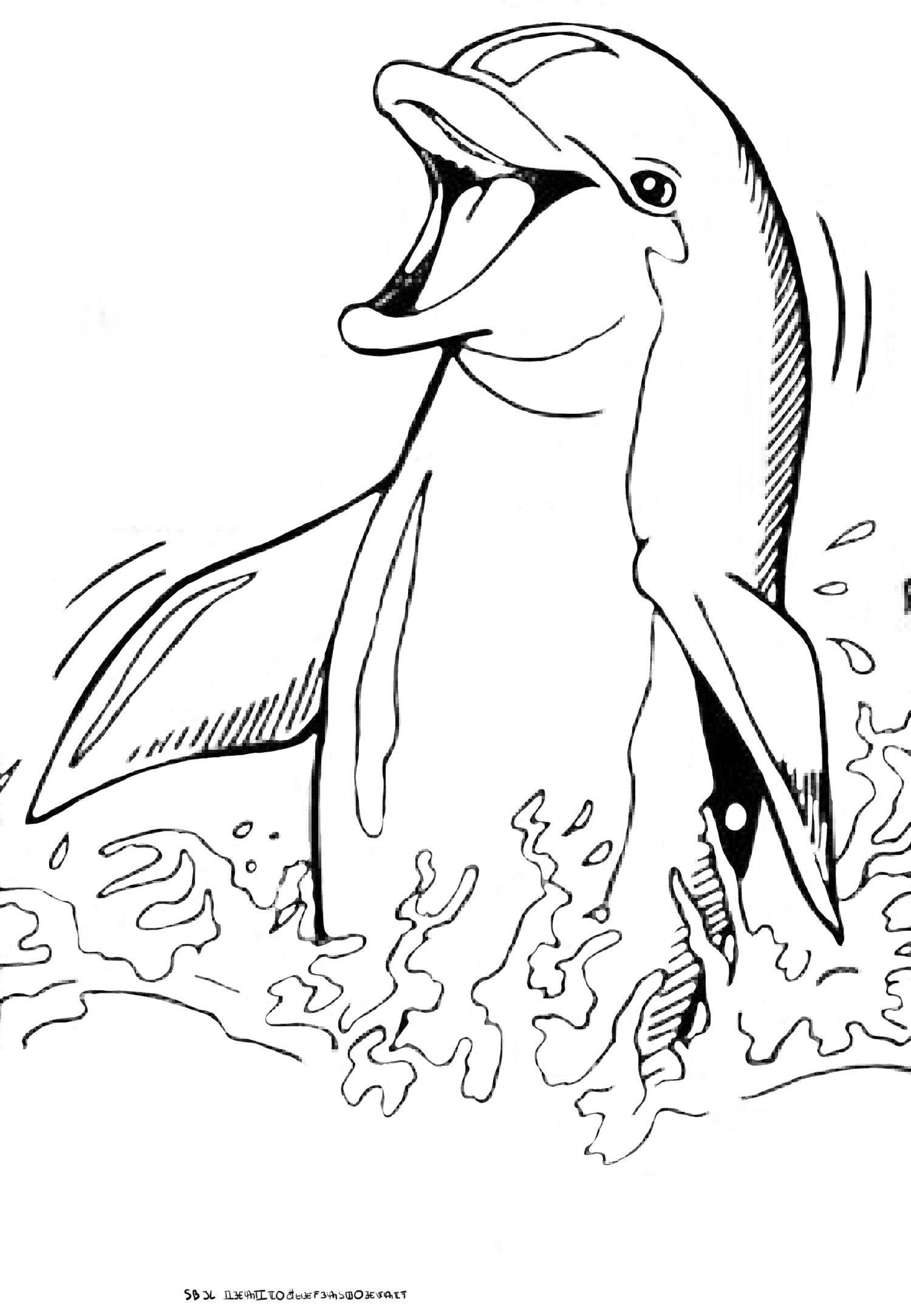 Coloriage 8 Dessin Dauphins | Coloriage Dauphin, Dauphin pour Dessin De Dauphin À Colorier