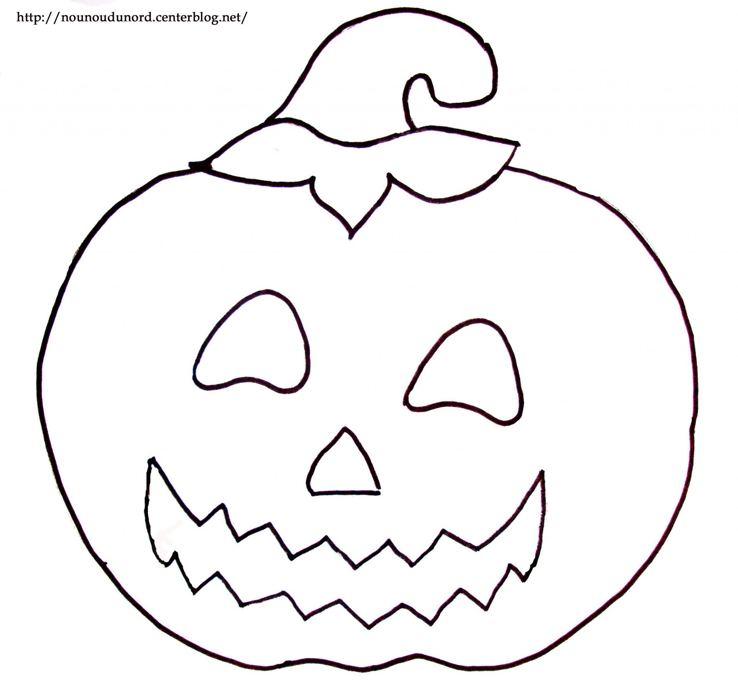 Coloriage À Dessiner Citrouille Imprimer Gratuit intérieur Dessin D Halloween Facile A Dessiner