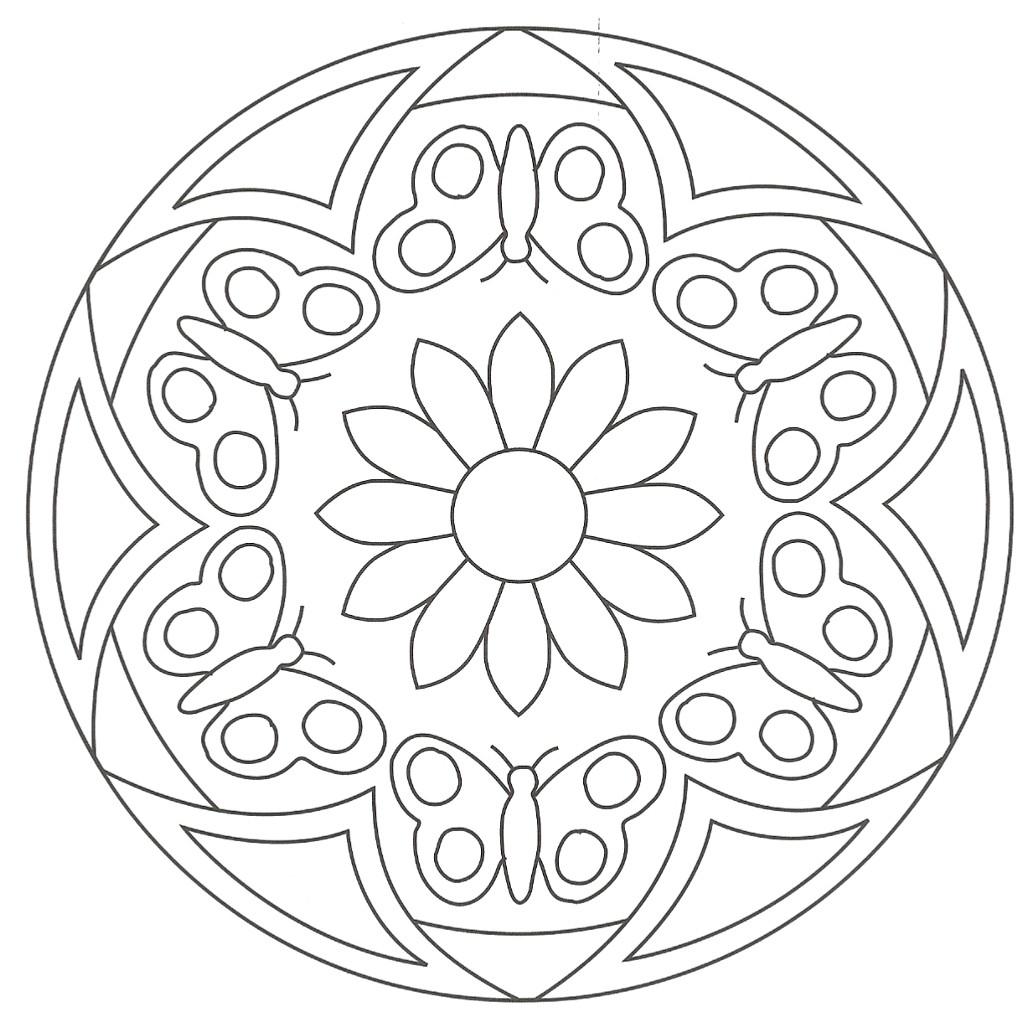 Coloriage À Dessiner Rosace À Imprimer concernant Dessiner Une Rosace