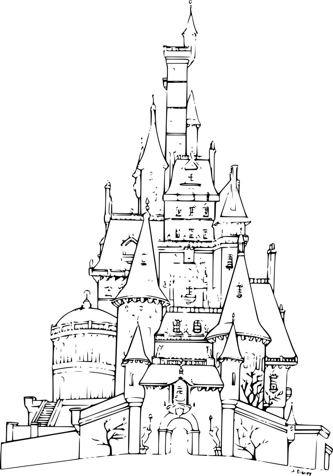 Coloriage À Imprimer Chateau Reine Des Neiges | Coloriages À dedans Coloriage À Imprimer Chateau De Princesse