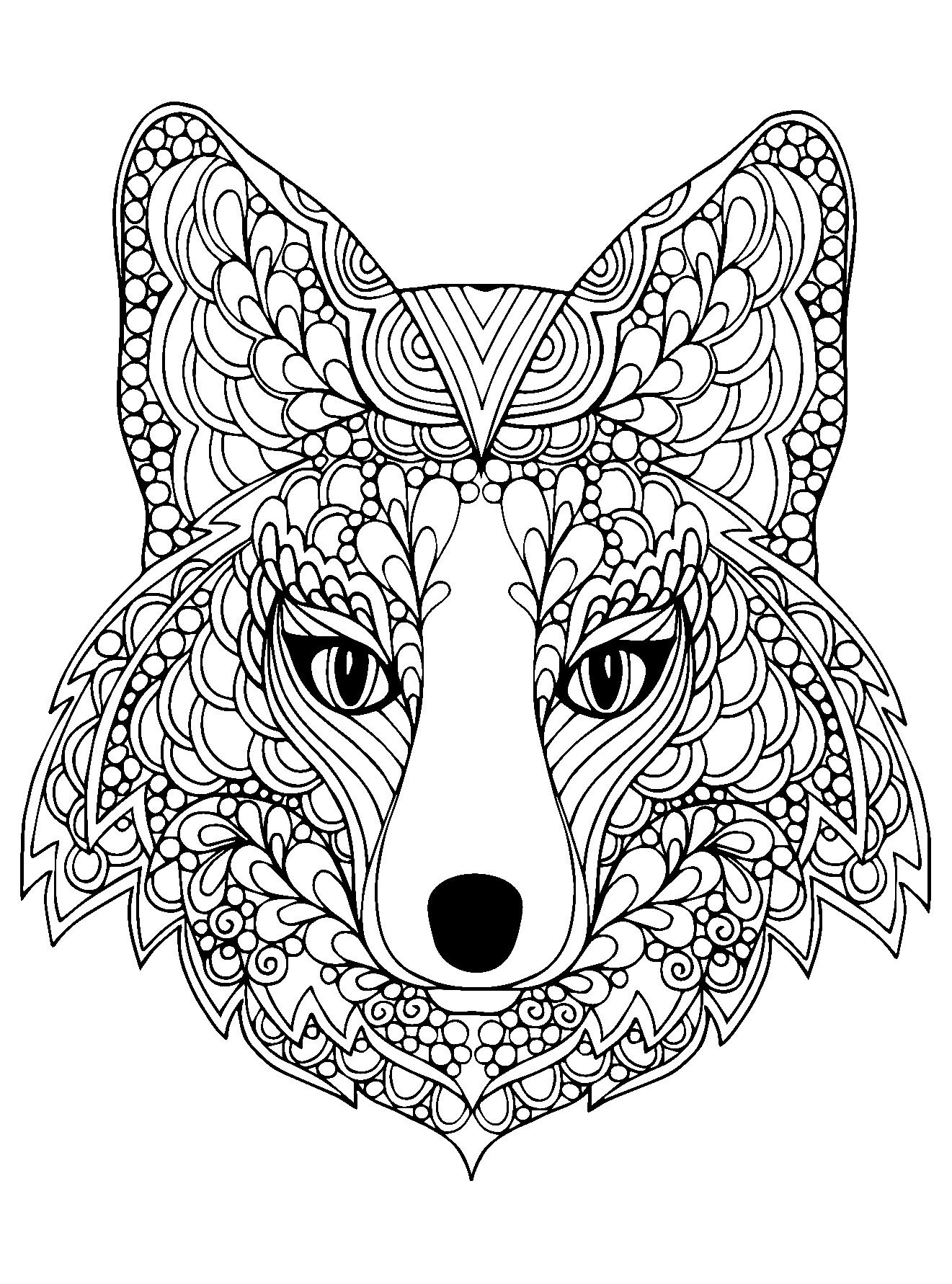 Coloriage À Imprimer Mandala Difficile Chien - Joli encequiconcerne Mandala À Colorier Et À Imprimer Gratuit
