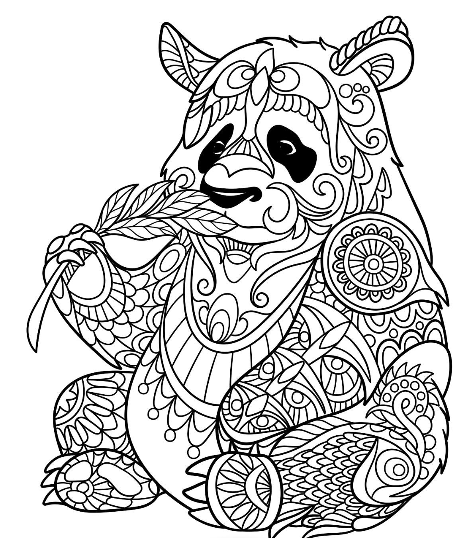 Coloriage À Imprimer Mandala Panda | Coloriages À Imprimer serapportantà Mandala Facile À Imprimer