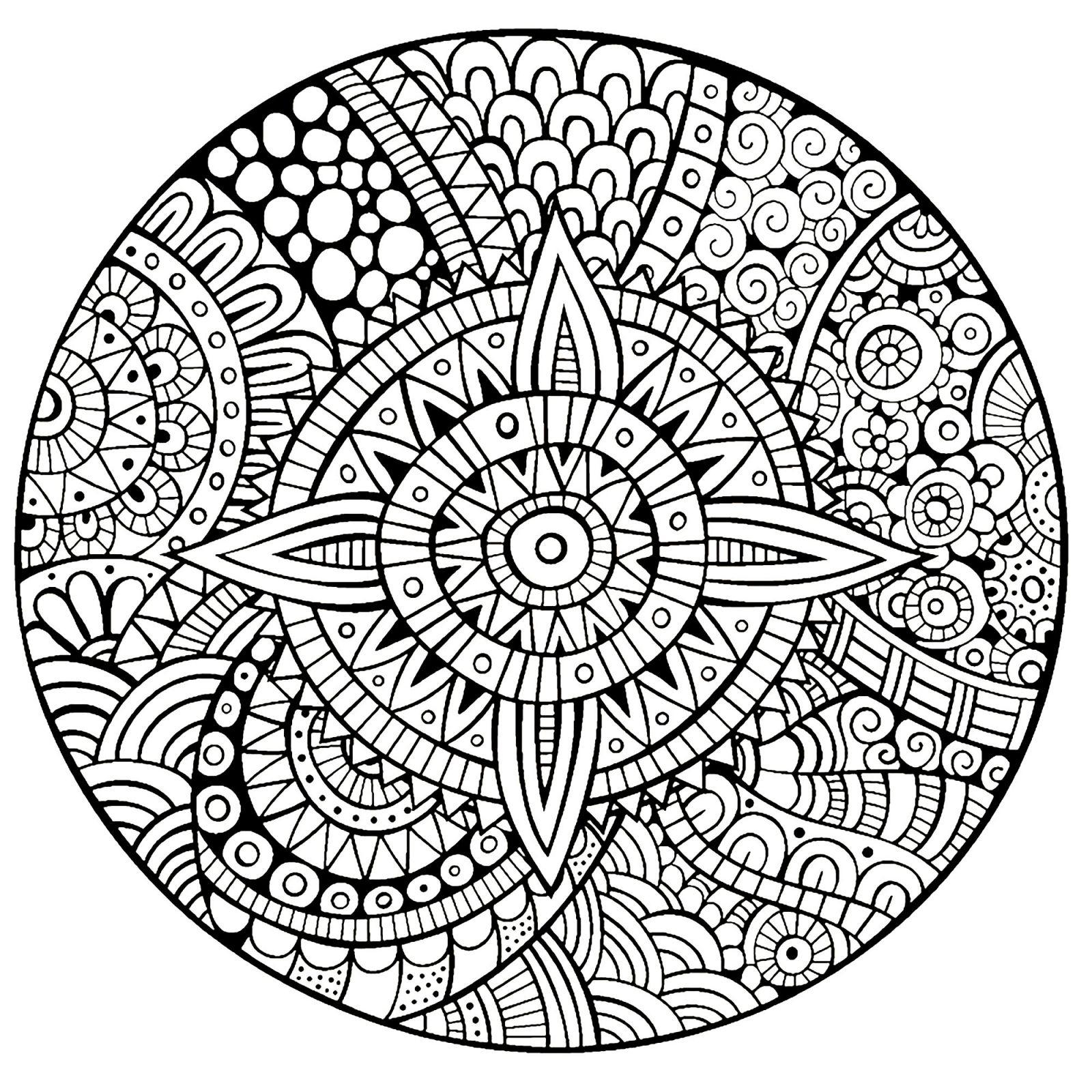 Coloriage À Imprimer Mandala Pour Adulte | Coloriages À intérieur Dessin A Imprimer Pour Adulte