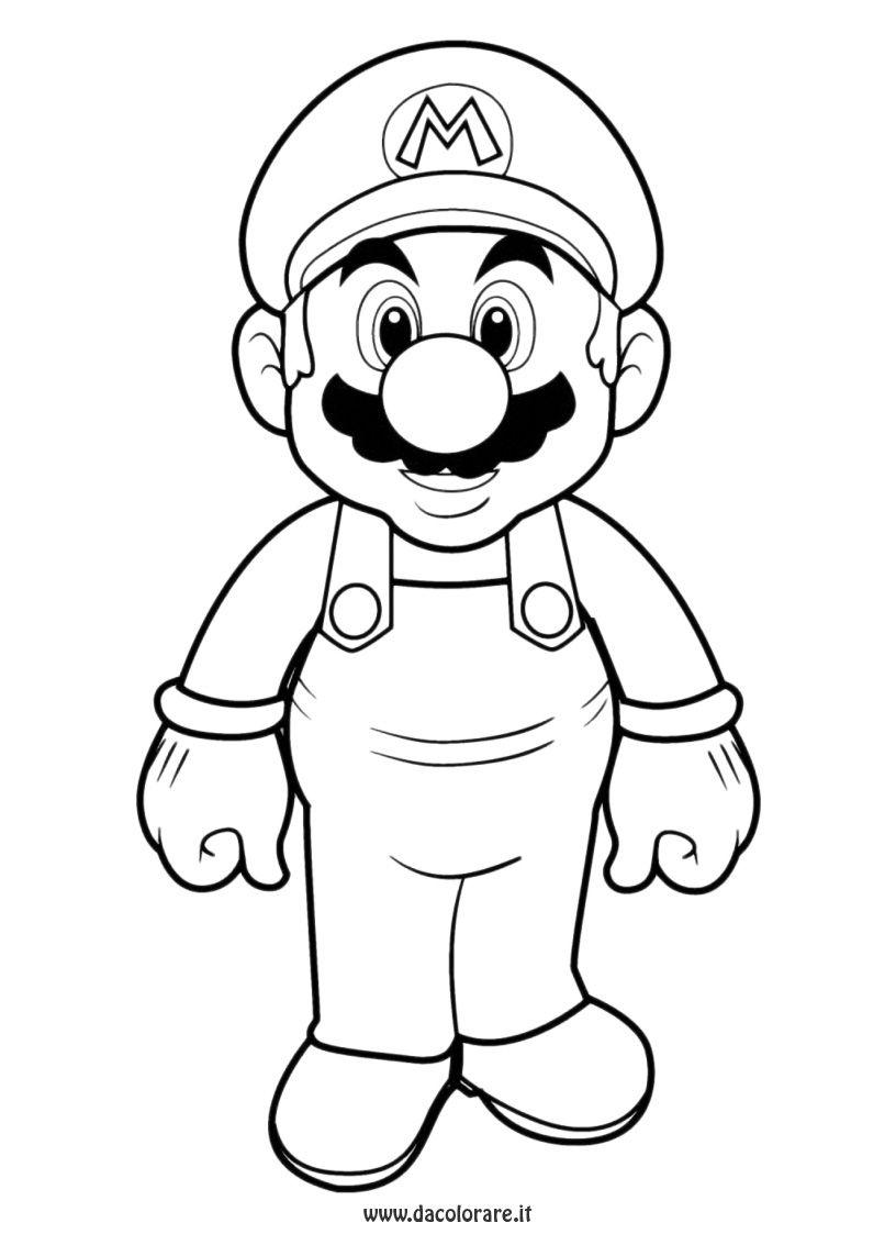 Coloriage À Imprimer : Personnages Célèbres - Nintendo destiné Personnage A Colorier