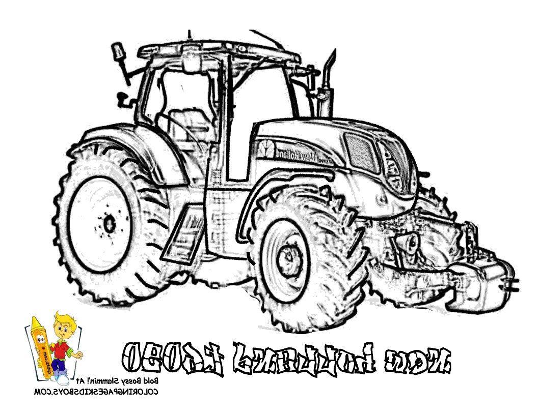 Coloriage A Imprimer Tracteur New Holland Dessins Gratuits encequiconcerne Tracteur À Colorier