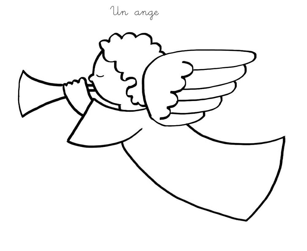 Coloriage À Imprimer : Un Ange pour Ange A Colorier