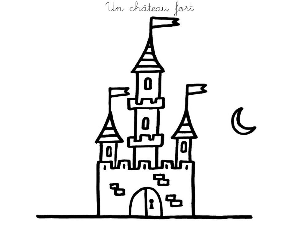 Coloriage À Imprimer : Un Château Fort 2 encequiconcerne Image De Chateau Fort A Imprimer