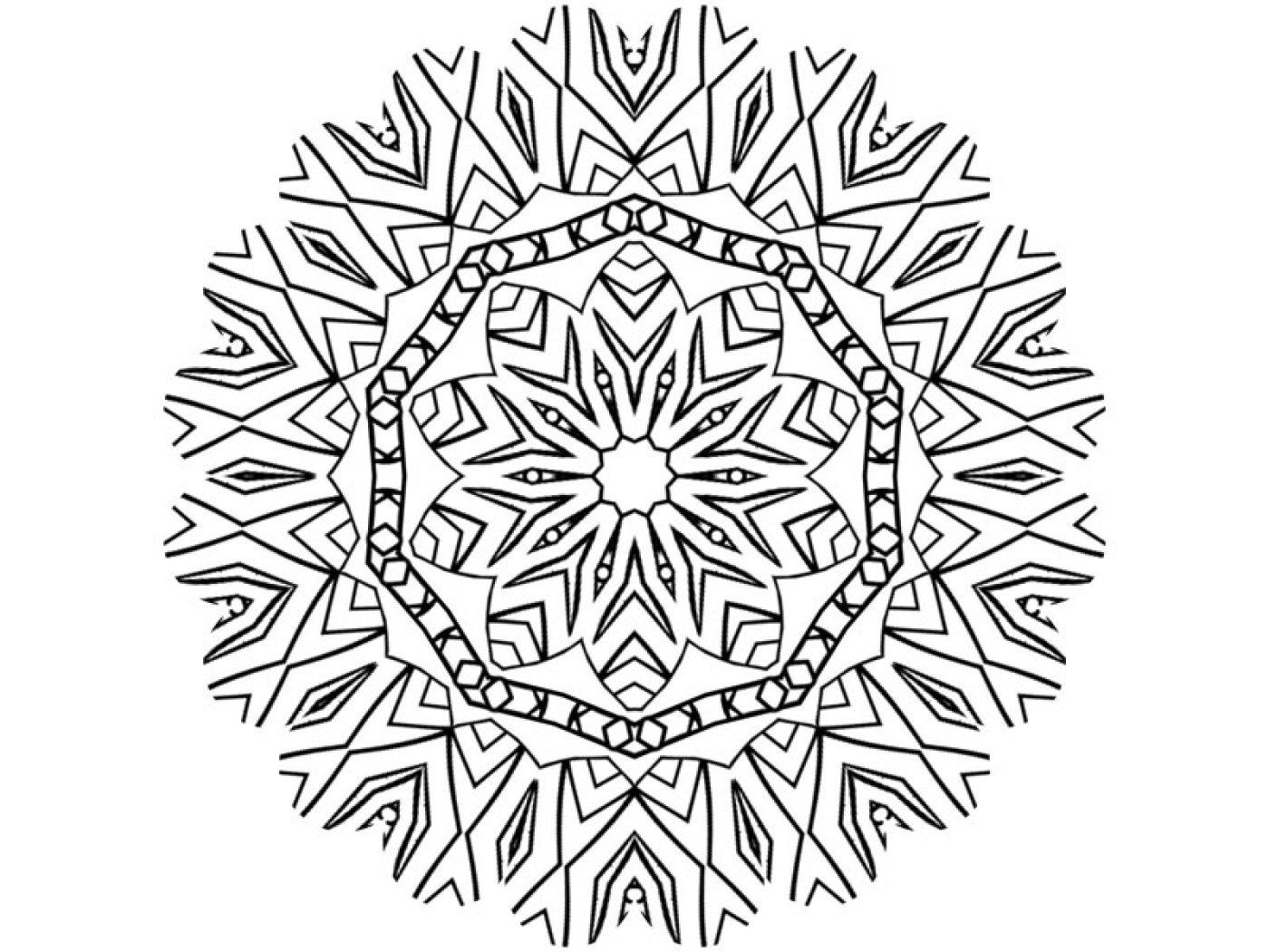 Coloriage À Télécharger Mandala Rosace destiné Image De Rosace