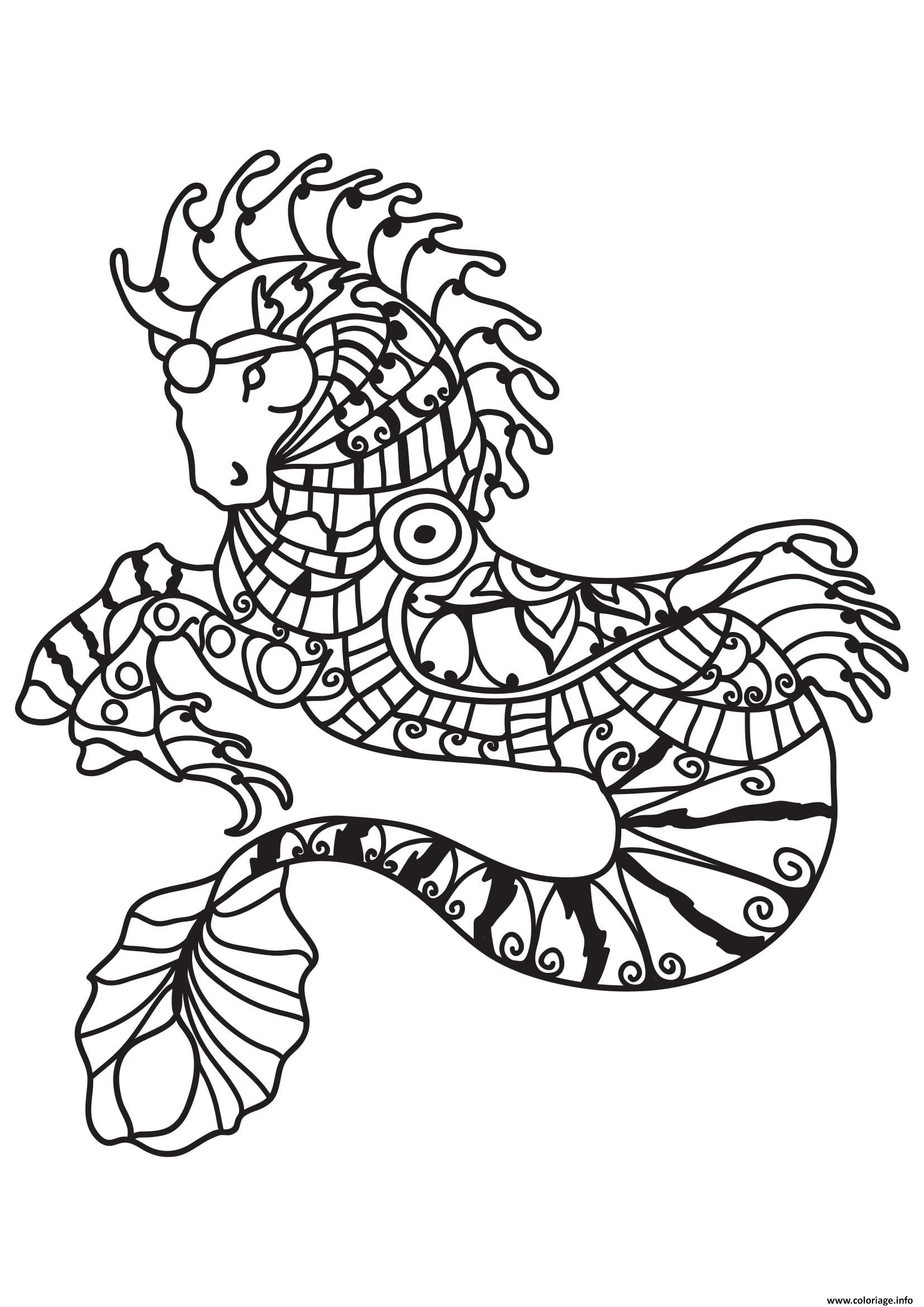 Coloriage Adulte Cheval Sirene Dessin destiné Dessin De Cheval A Colorier