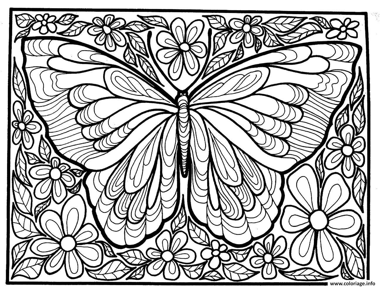 Coloriage Adulte Difficile Grand Papillon Dessin à Dessin A Imprimer Papillon Gratuit
