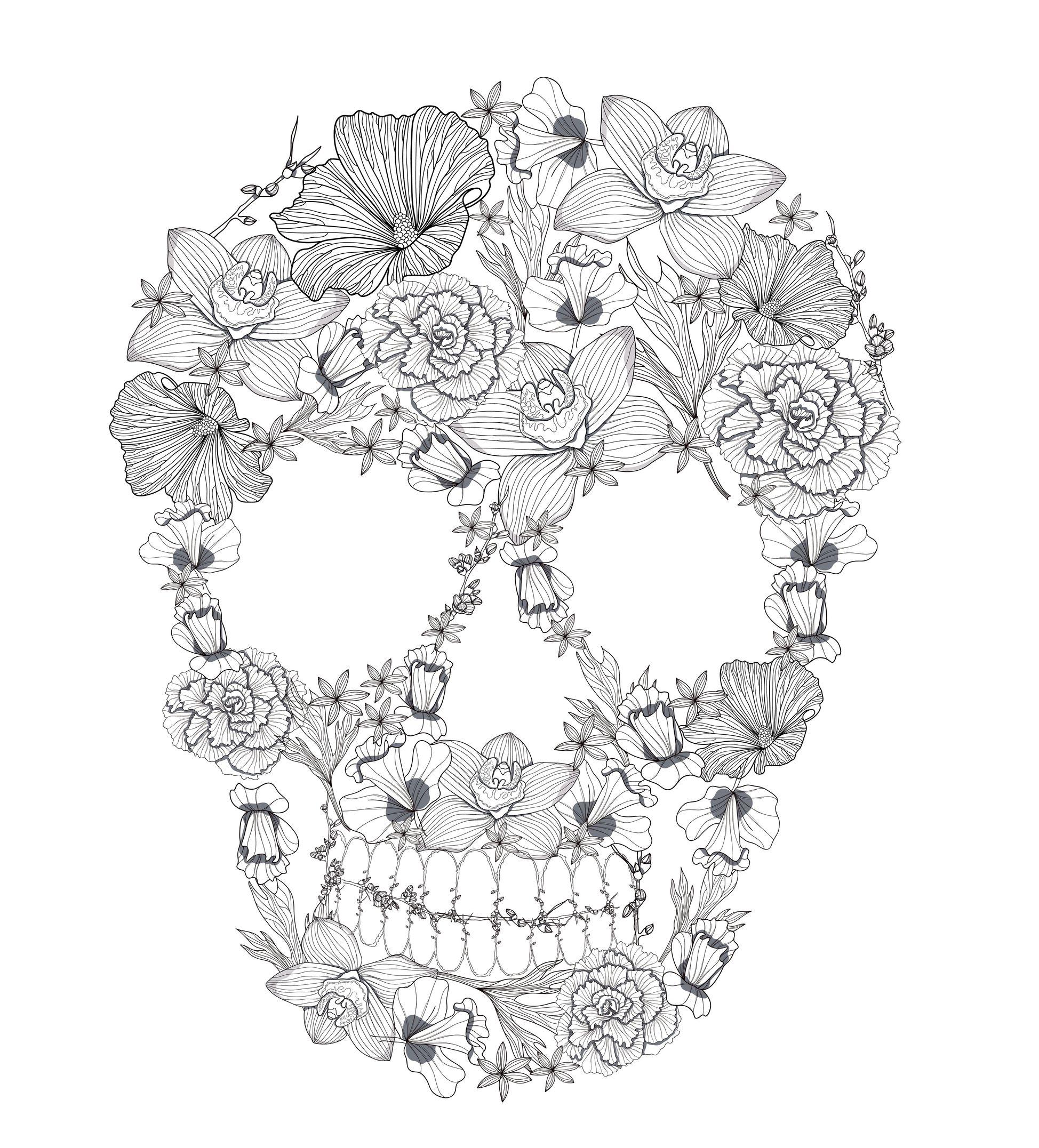 Coloriage Adulte - Fleurs avec Dessin A Imprimer Pour Adulte