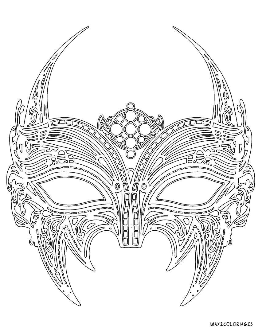 Coloriage Adulte Masque Venitien | Coloriages À Imprimer à Masque Loup A Colorier