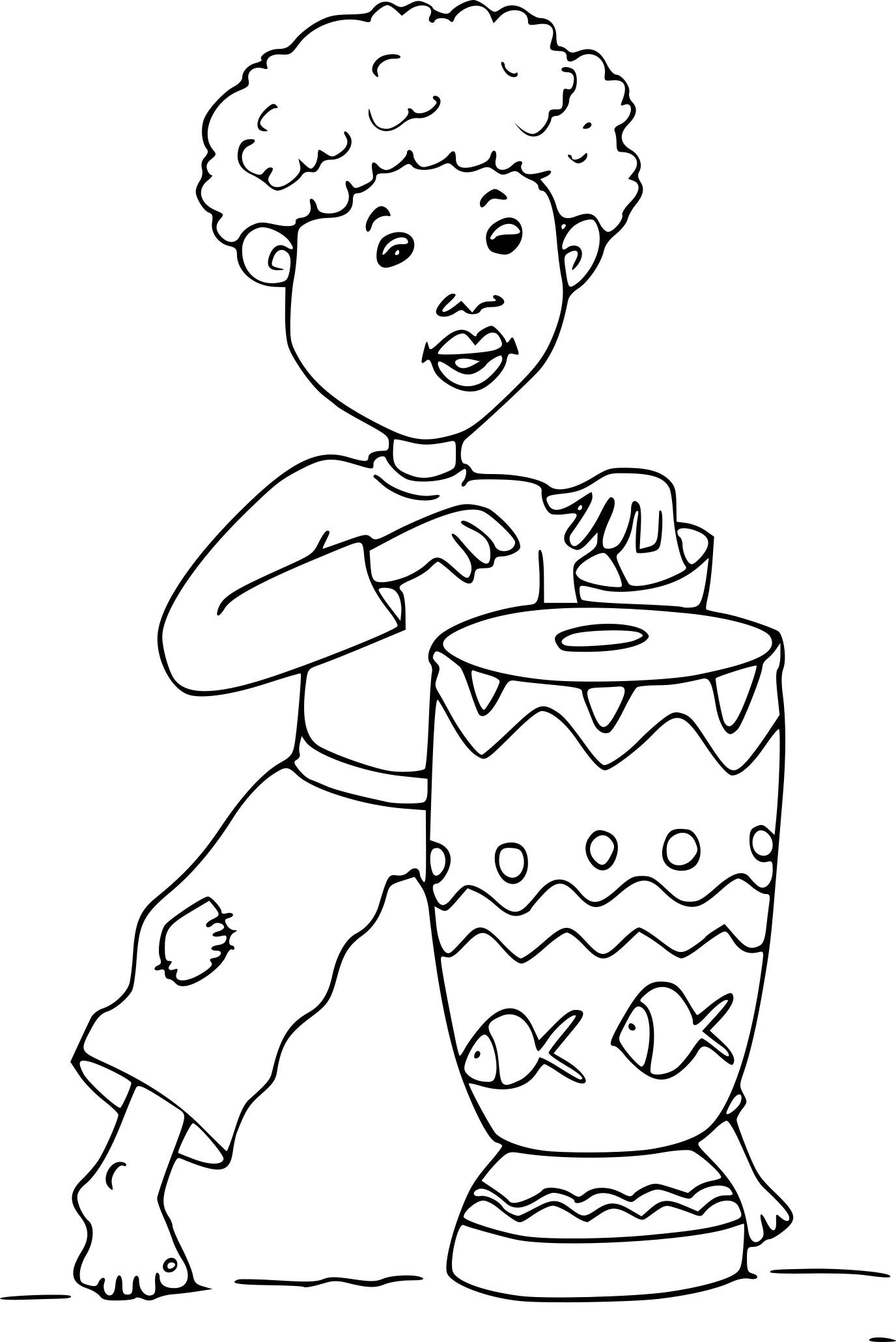 Coloriage Afrique Dessin À Imprimer Sur Coloriages intérieur Dessin Africain A Colorier