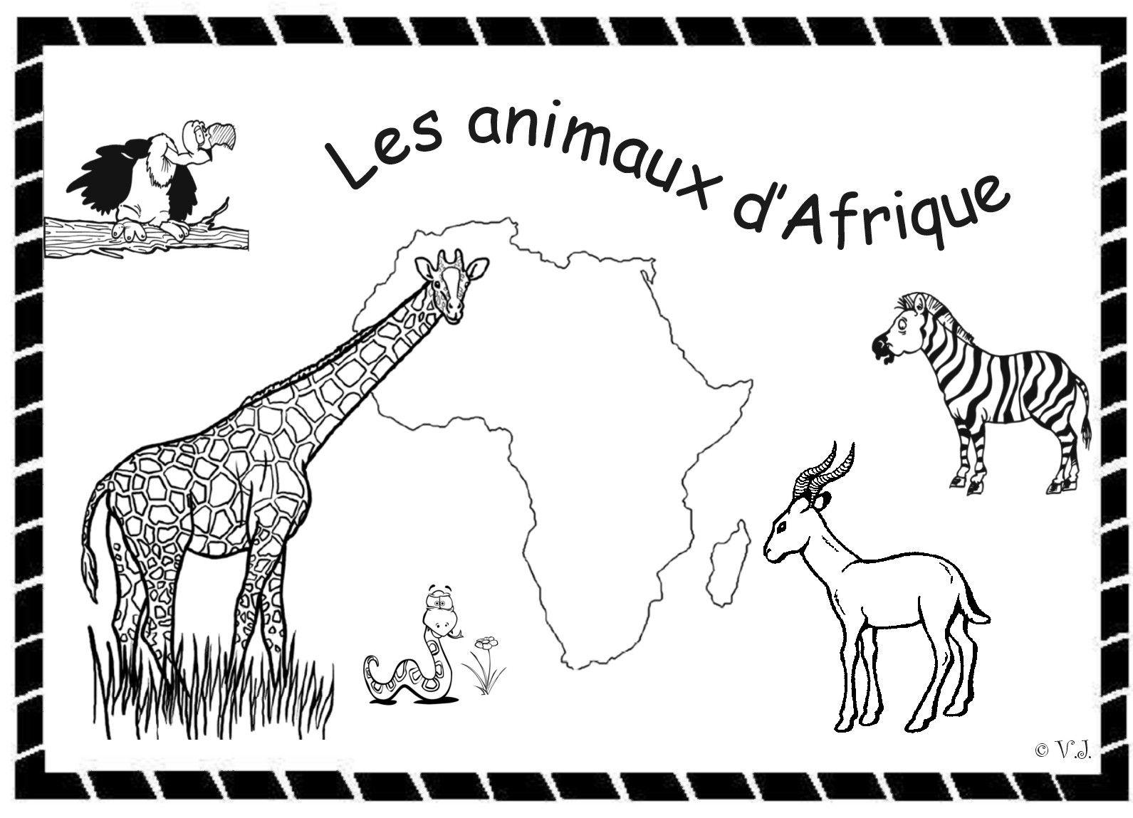 Coloriage Afrique Noire | Coloriage, Afrique, Coloriage Animaux à Coloriage Afrique À Imprimer