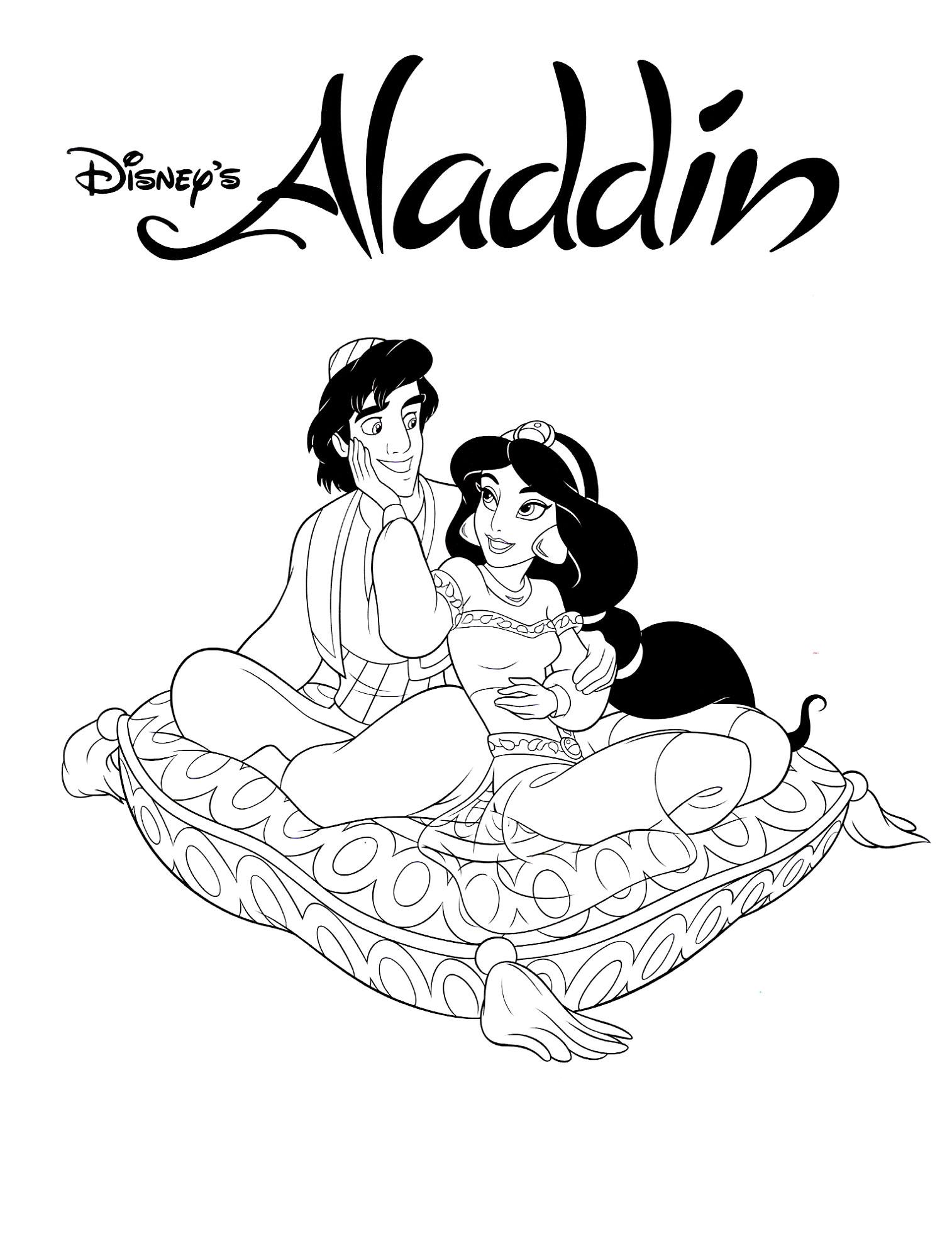 Coloriage Aladdin Disney À Imprimer à Dessin Walt Disney À Imprimer