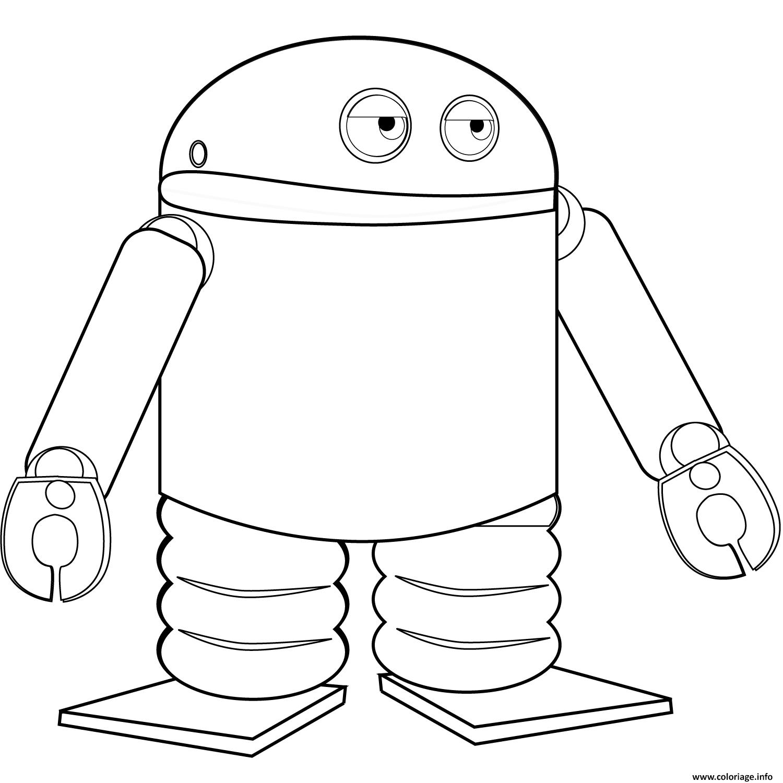 Coloriage Android Robot Dessin pour Coloriage Robot À Imprimer
