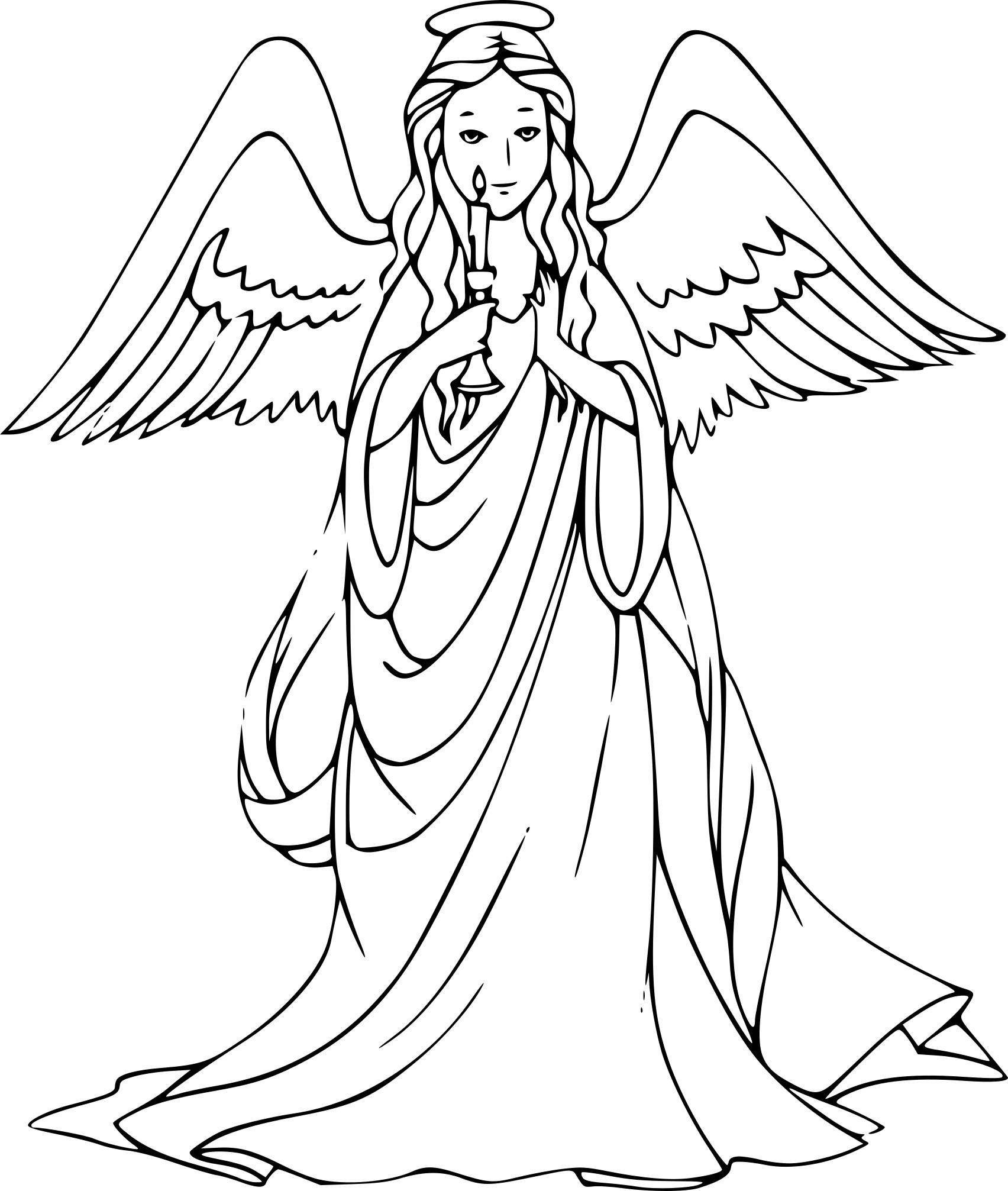 Coloriage Ange De Dieu À Imprimer Sur Coloriages à Ange A Colorier