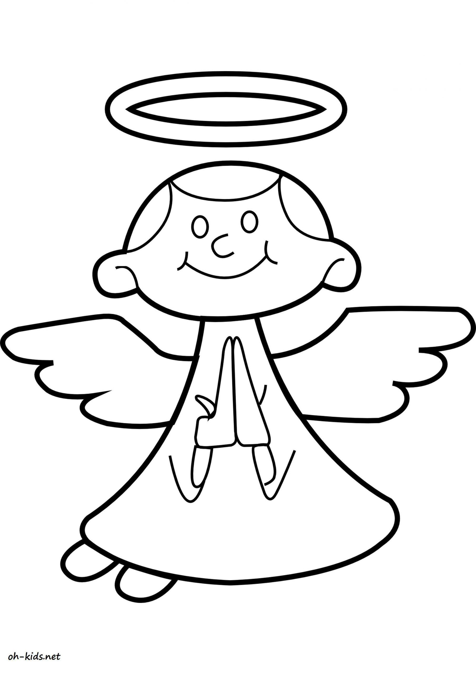 Coloriage Ange - Oh Kids Fr concernant Ange A Colorier