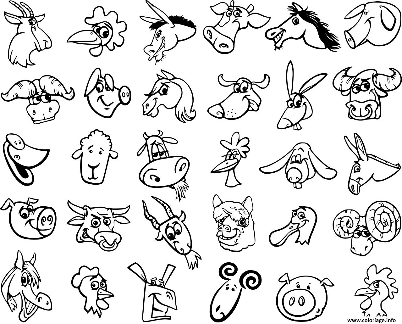 Coloriage Animaux De La Ferme Dessin destiné Dessin Animaux De La Ferme À Imprimer