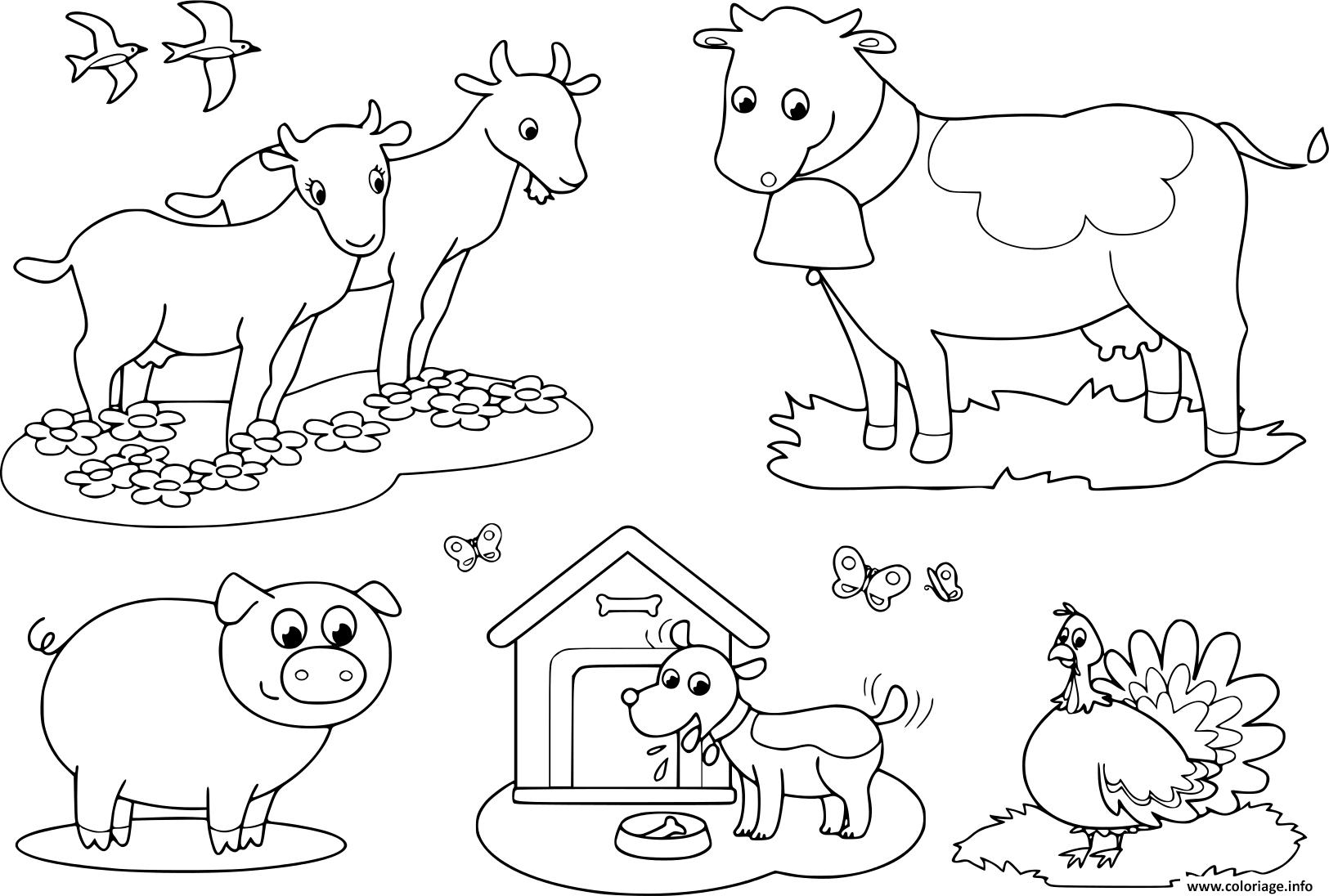 Coloriage Animaux De La Ferme Pour Les Enfants De Chevre avec Dessin Animaux De La Ferme À Imprimer