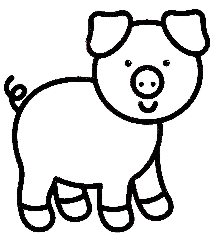 Coloriage Animaux Facile - Tourisme Miramont Tout Coloriage destiné Dessin Cochon A Colorier