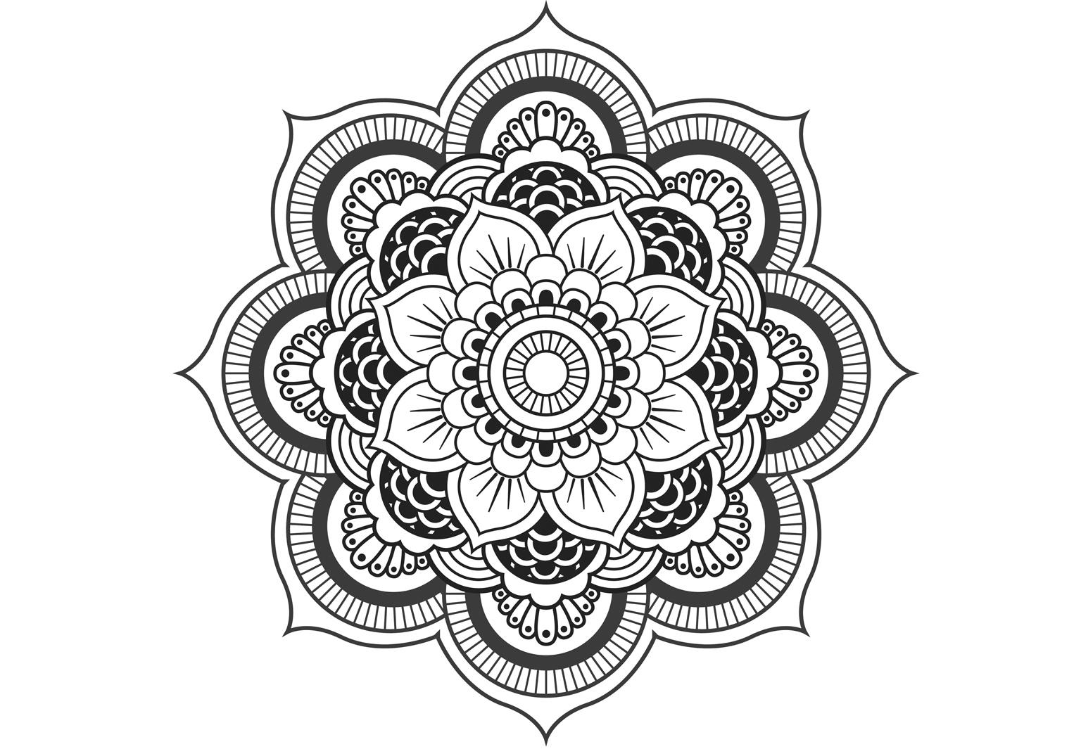 Coloriage Anti-Stress Et Mandala Gratuits Pour Adulte intérieur Mandala À Imprimer Facile