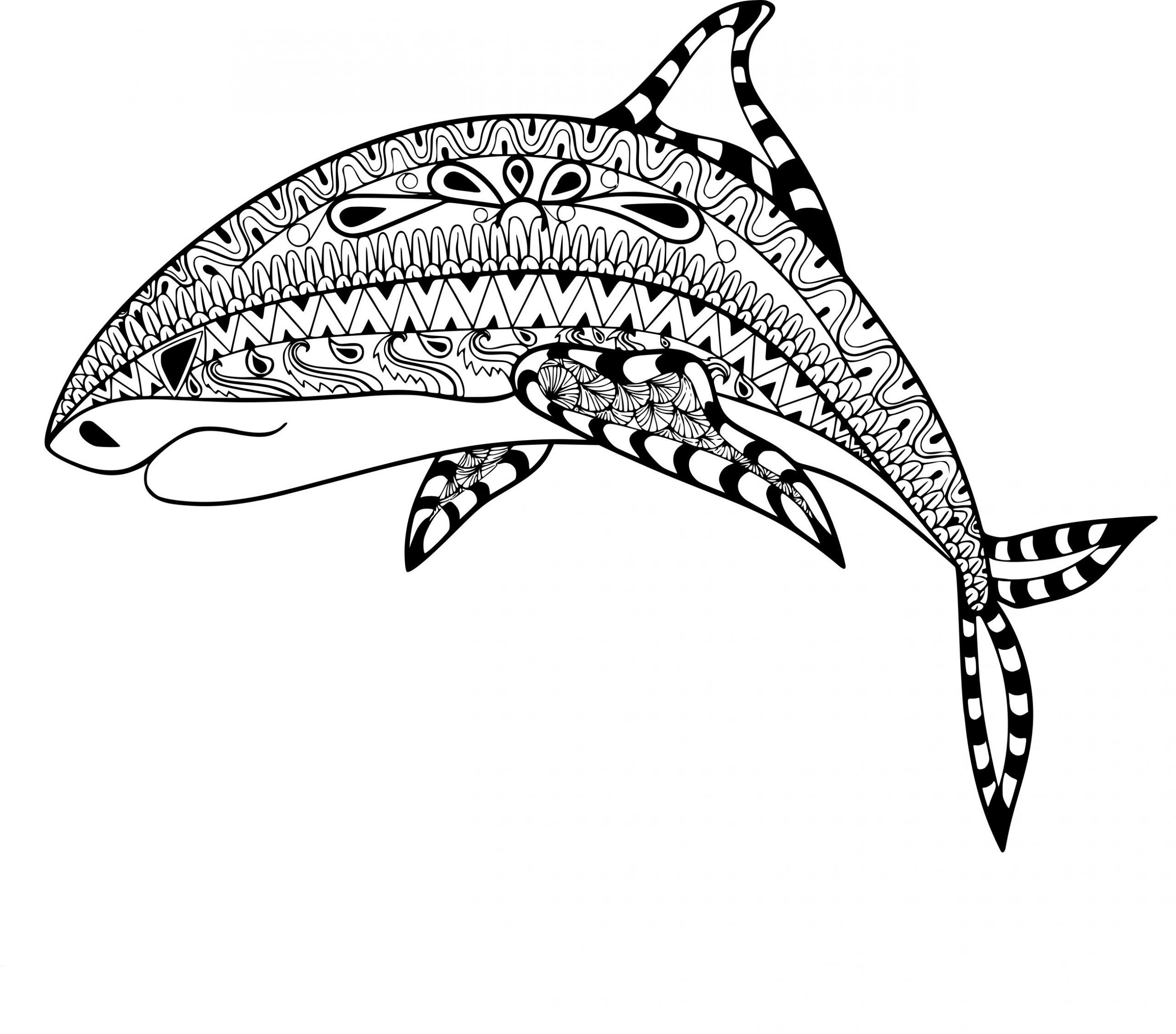 Coloriage Anti-Stress Requin À Imprimer Sur Coloriages pour Coloriage Requin À Imprimer