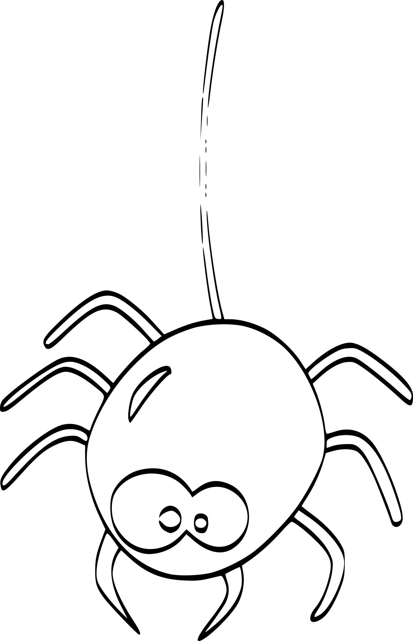 Coloriage Araignée Halloween Et Dessin À Imprimer concernant Dessiner Une Araignee