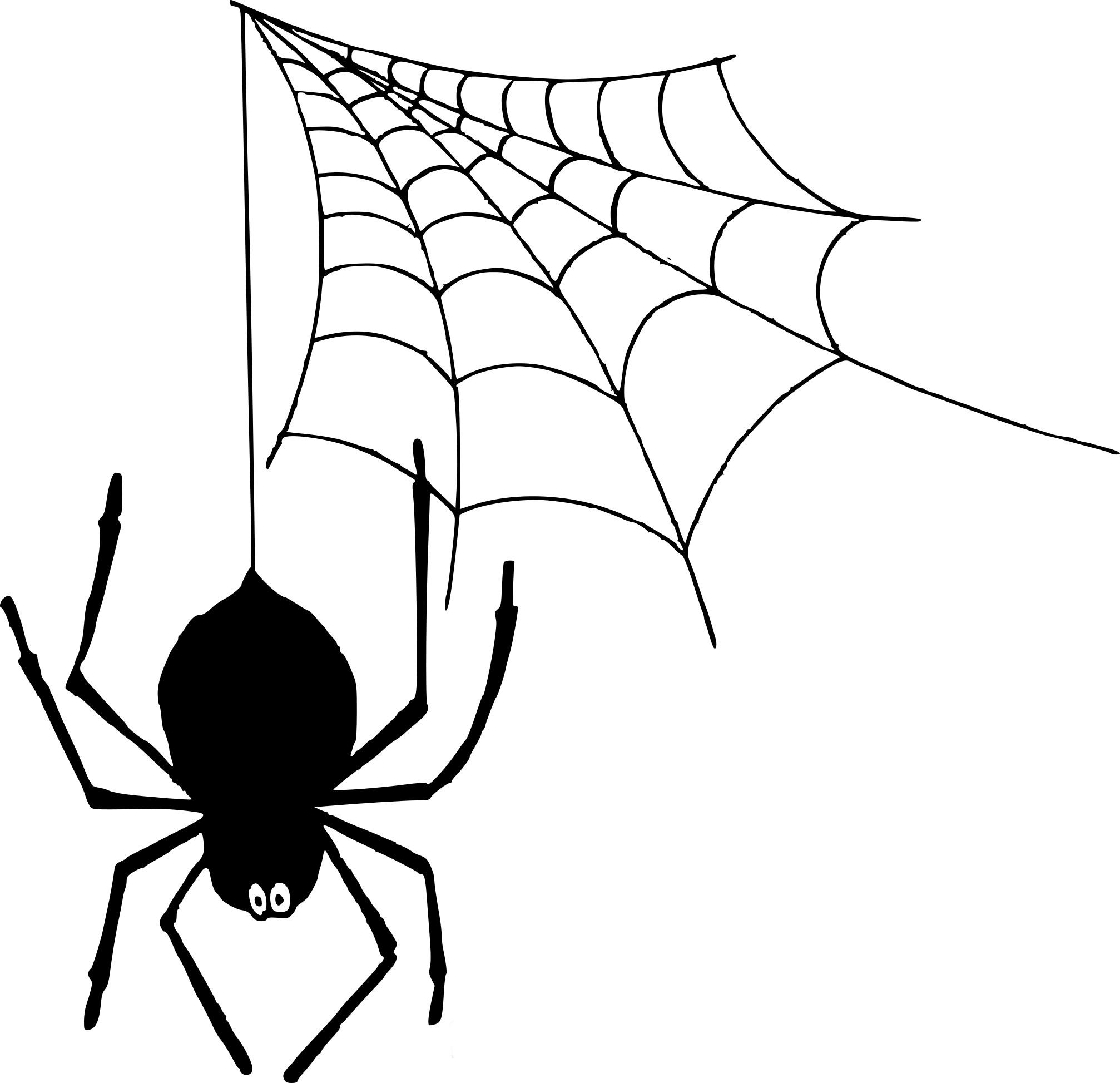 Coloriage Araignée Toile À Imprimer Sur Coloriages pour Dessin Toile Araignée