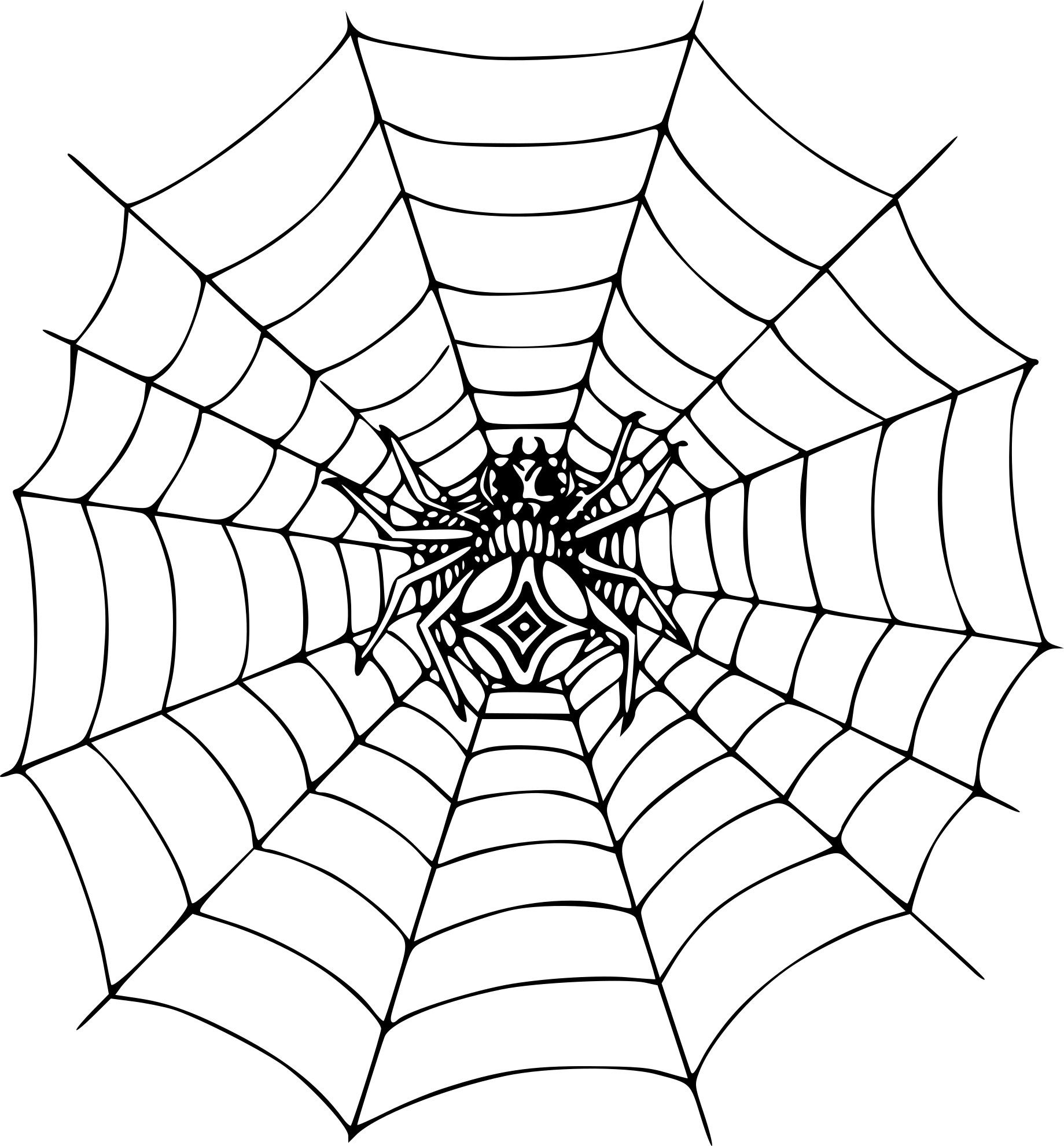 Coloriage Araignée Toile Dessin À Imprimer Sur Coloriages tout Dessin Toile Araignée