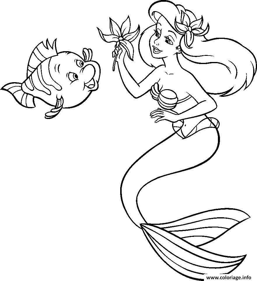 Coloriage Ariel La Petite Sirène In 2020 | Coloring Pictures tout Dessin Walt Disney À Imprimer