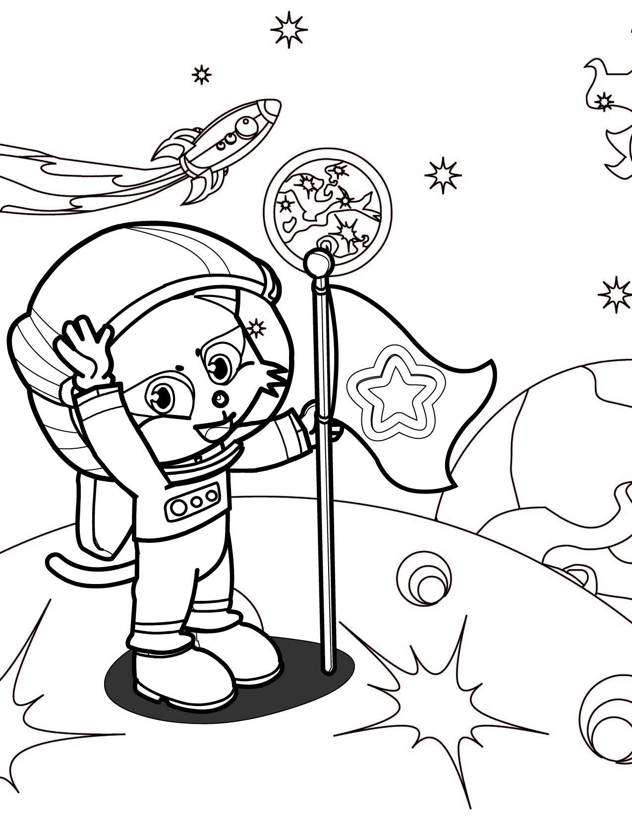 Coloriage Astronaute À Imprimer Sur Coloriages avec Coloriage Astronaute