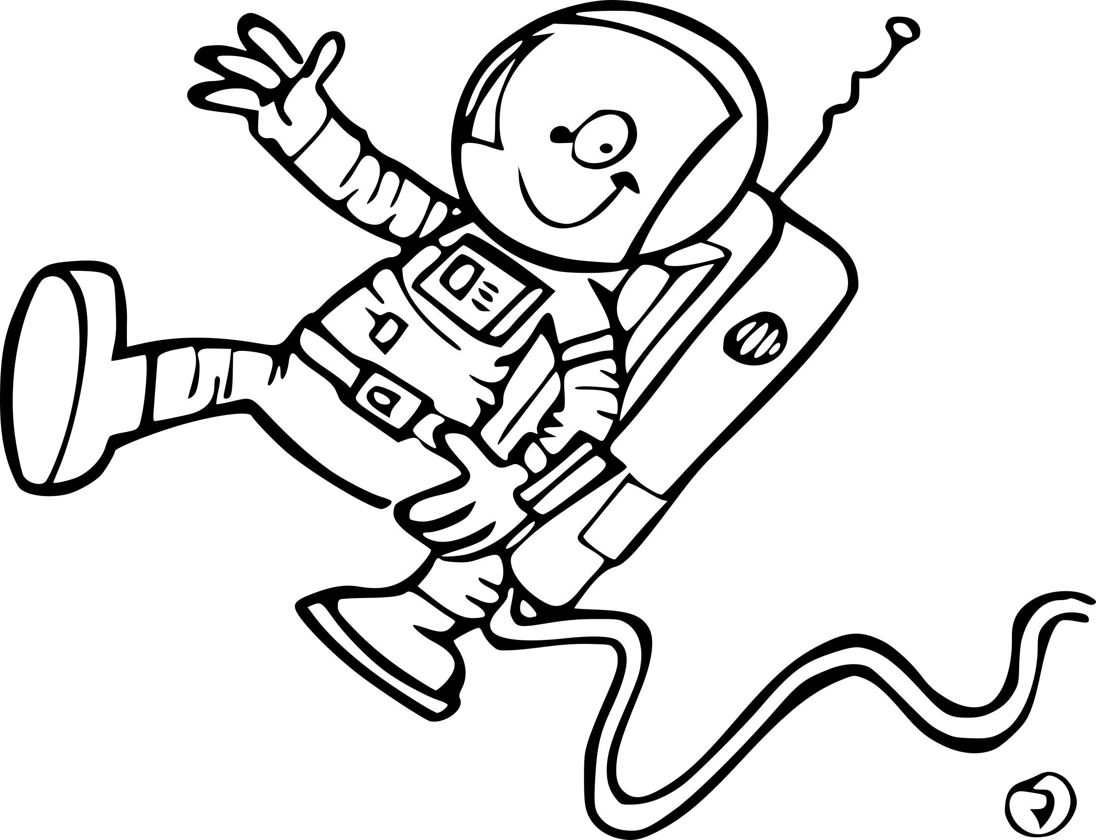 Coloriage Astronaute Dessin À Imprimer Sur Coloriages destiné Coloriage Astronaute