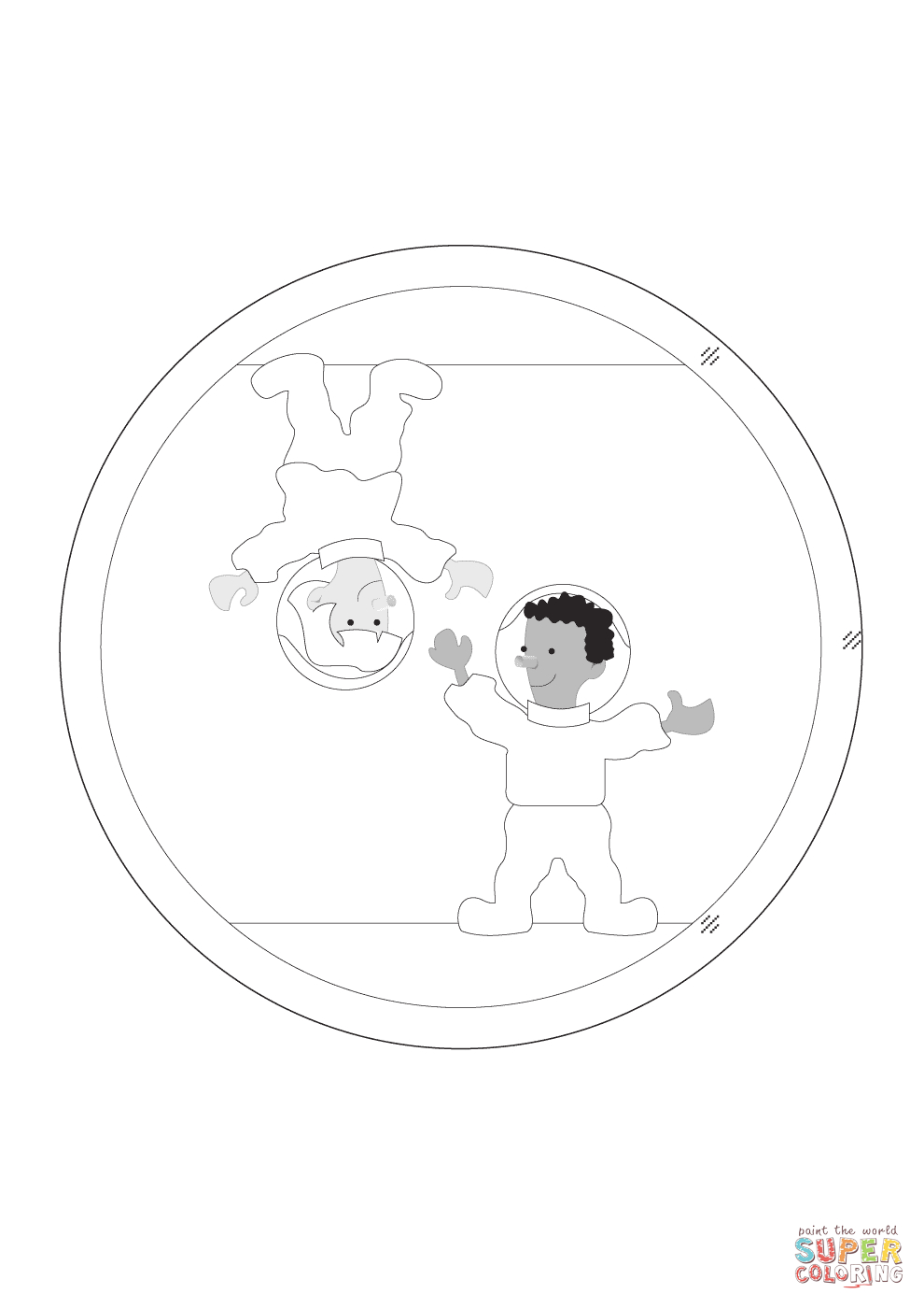 Coloriage - Astronaute En Apesanteur | Coloriages À Imprimer pour Coloriage Astronaute