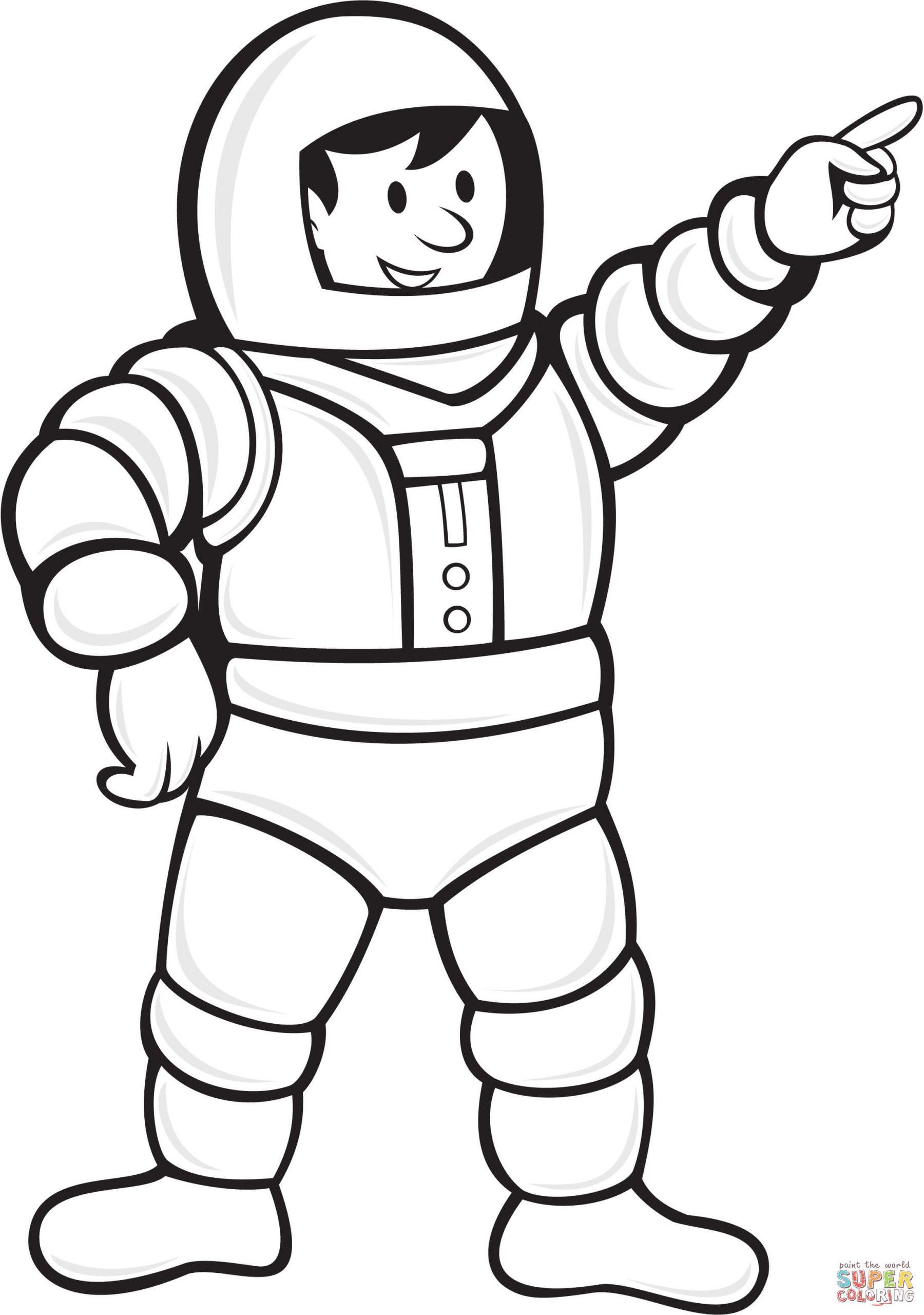 Coloriage - Astronaute Portant La Combinaison Spatiale tout Coloriage Astronaute