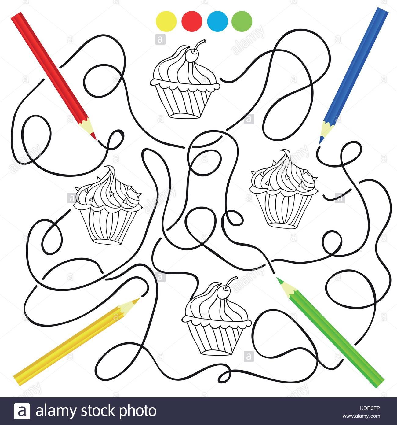 Coloriage Avec Cupcake Jeu De Dessin Pour Les Enfants pour Jeux Enfant Dessin